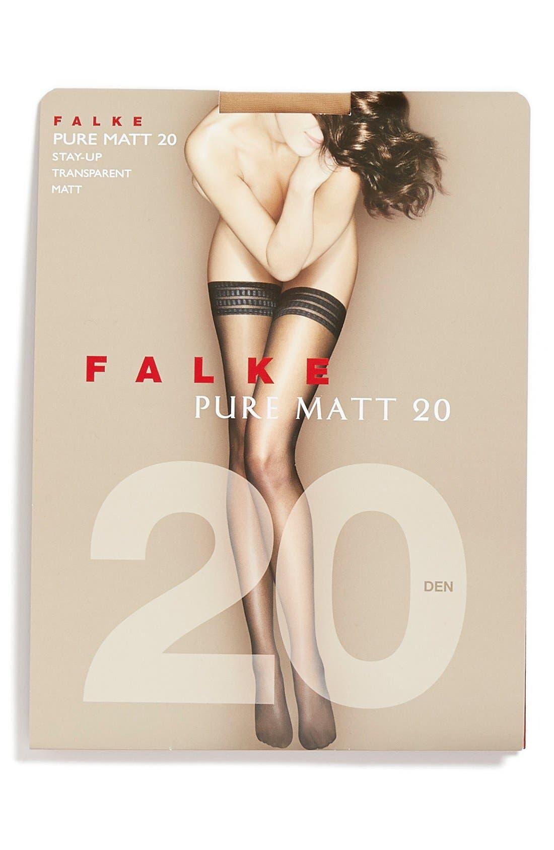 'Pure Matt 20' Stay-Up Stockings,                             Alternate thumbnail 14, color,