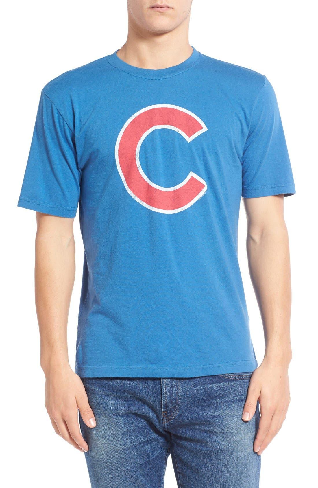 'Chicago Cubs - Brass Tacks' Trim Fit T-Shirt,                         Main,                         color, 450