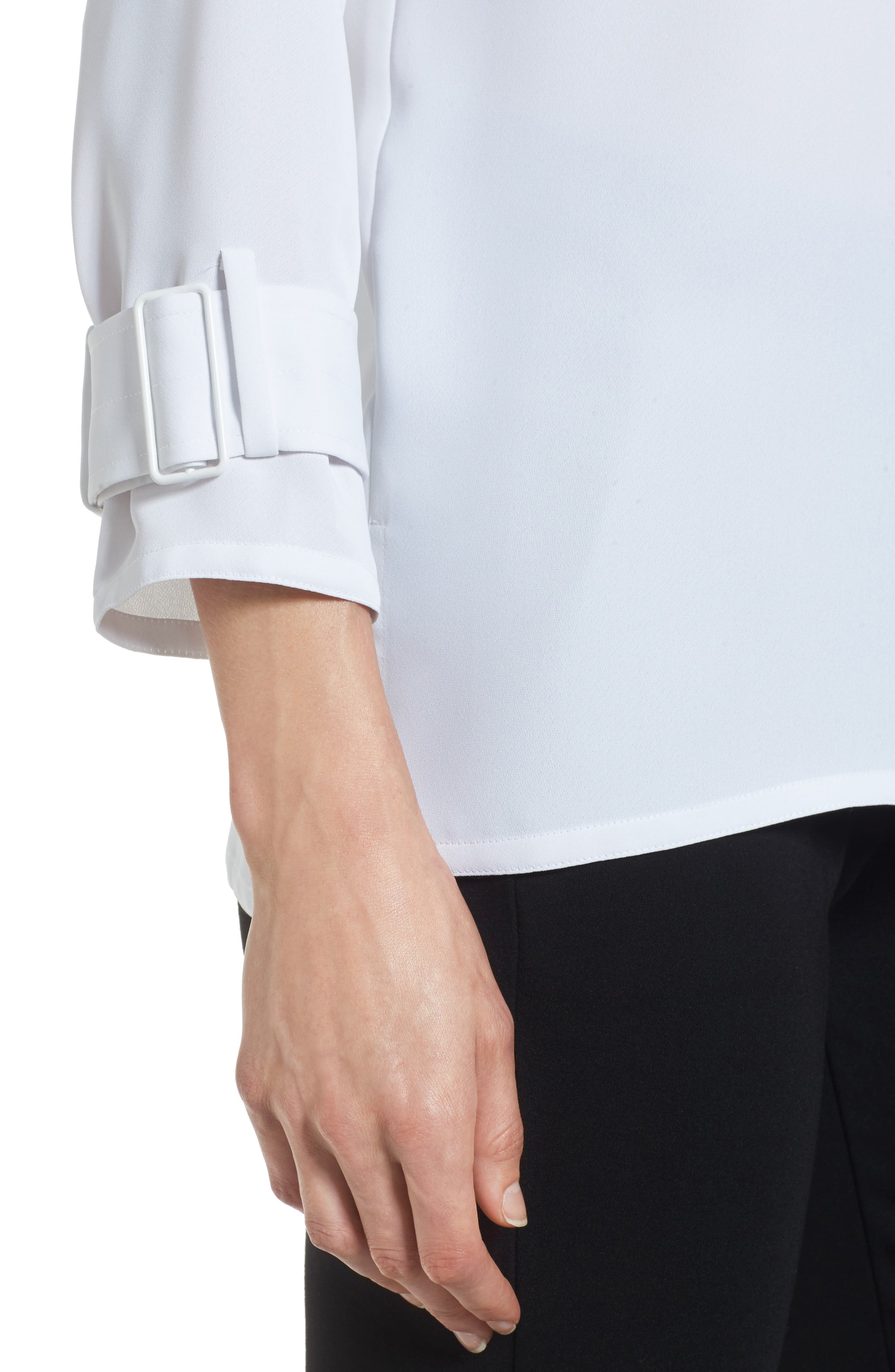 Buckle Sleeve Top,                             Alternate thumbnail 4, color,                             123