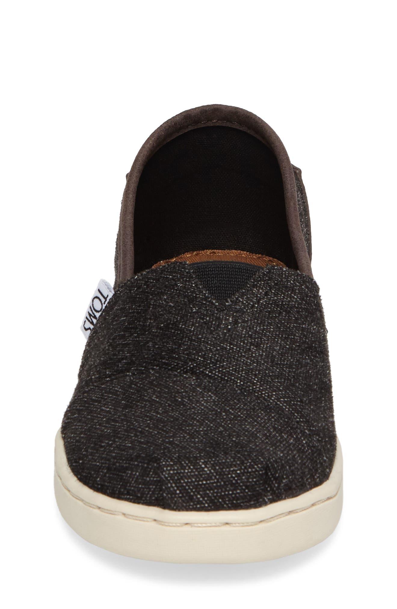 Herringbone Slip-On Sneaker,                             Alternate thumbnail 4, color,                             021