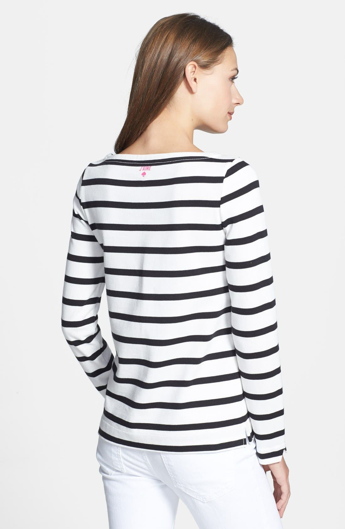 'roanne' stripe top,                             Alternate thumbnail 3, color,                             150