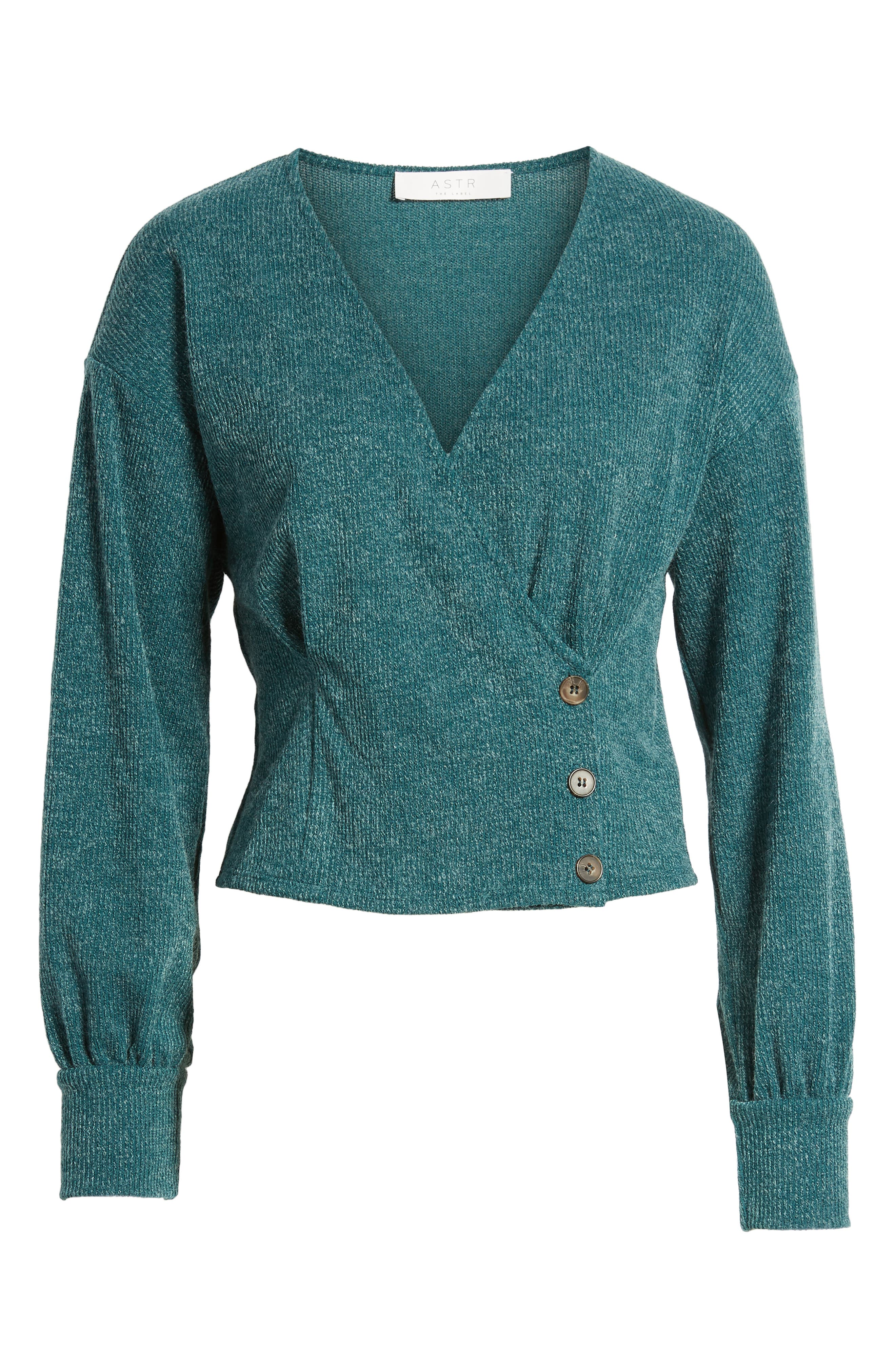 Wrap Sweater,                             Alternate thumbnail 6, color,                             TEAL