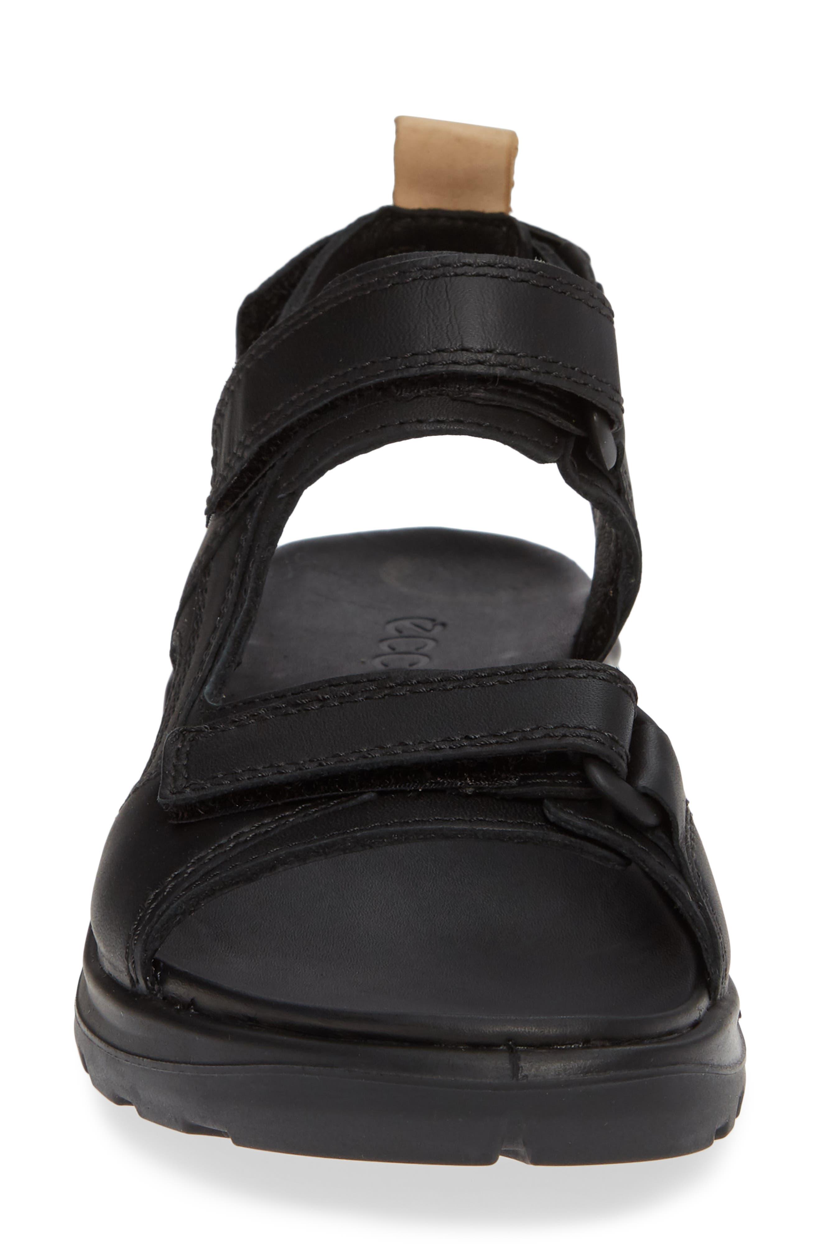 Premium Offroad Sandal,                             Alternate thumbnail 4, color,                             BLACK NUBUCK LEATHER