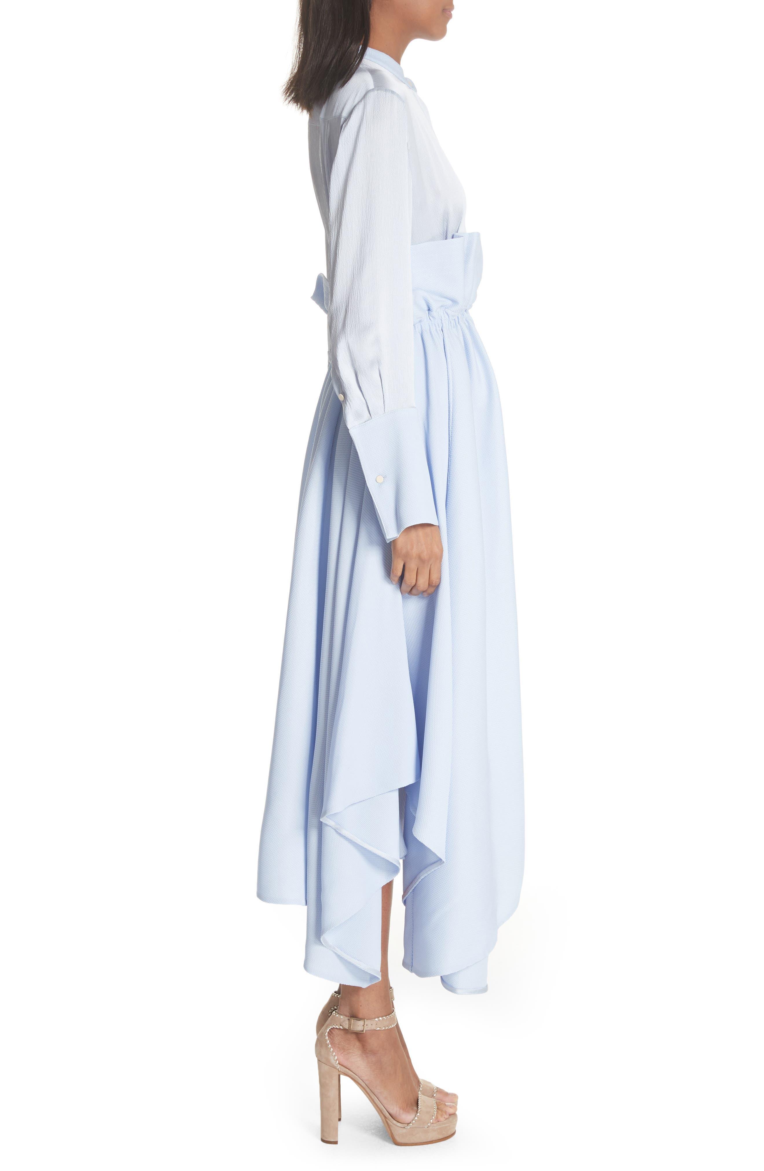 Micah Silk Dress,                             Alternate thumbnail 3, color,                             400