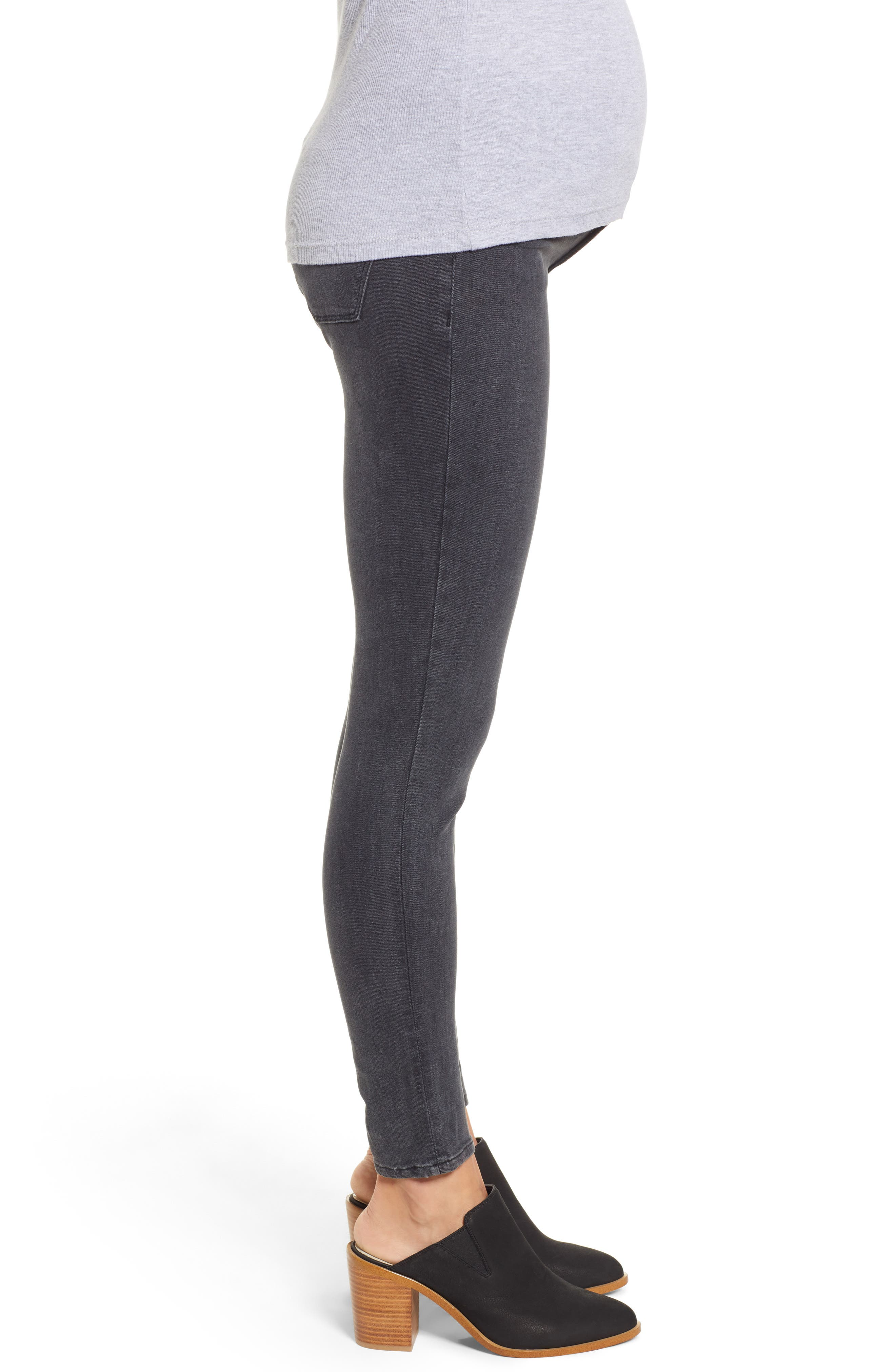 Florence Maternity Skinny Jeans,                             Alternate thumbnail 3, color,                             FRISCO