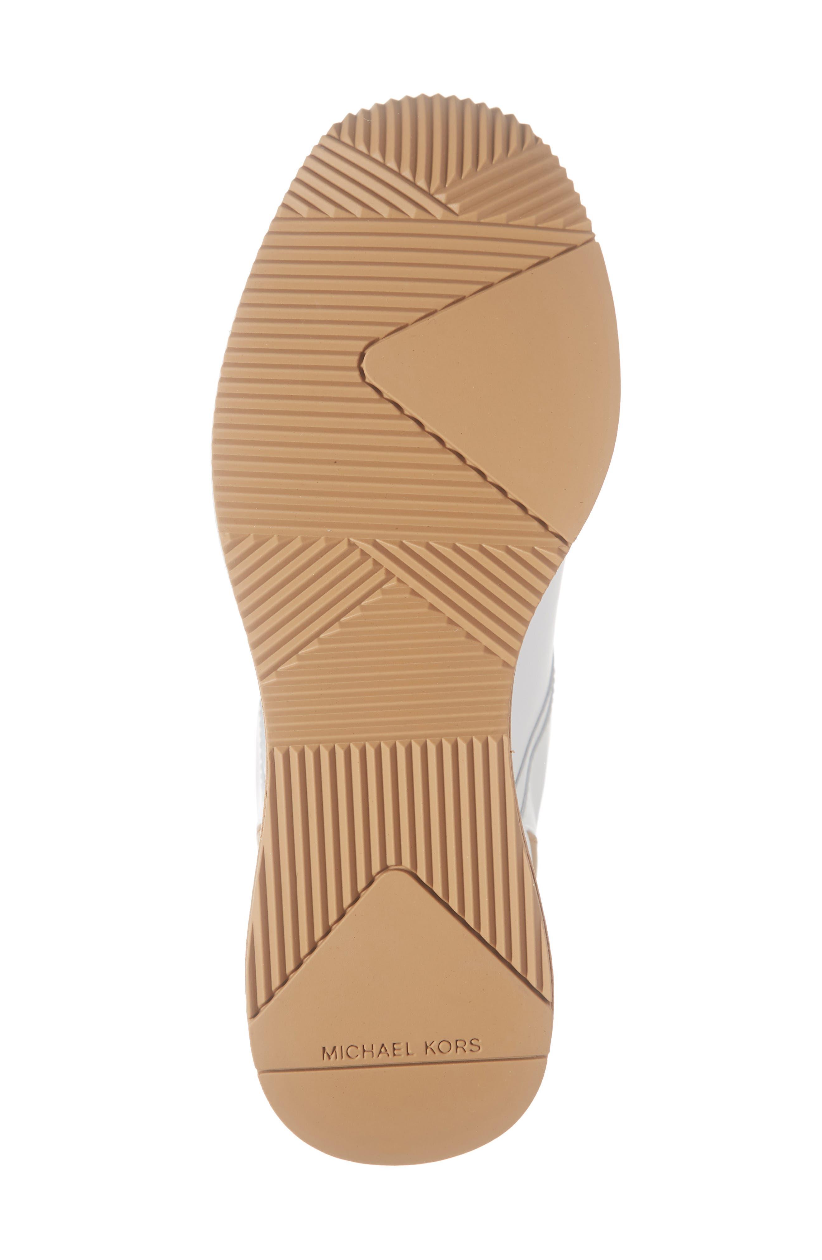MICHAEL MICHAEL KORS,                             Georgie Wedge Sneaker,                             Alternate thumbnail 6, color,                             OPTIC WHITE MULTI