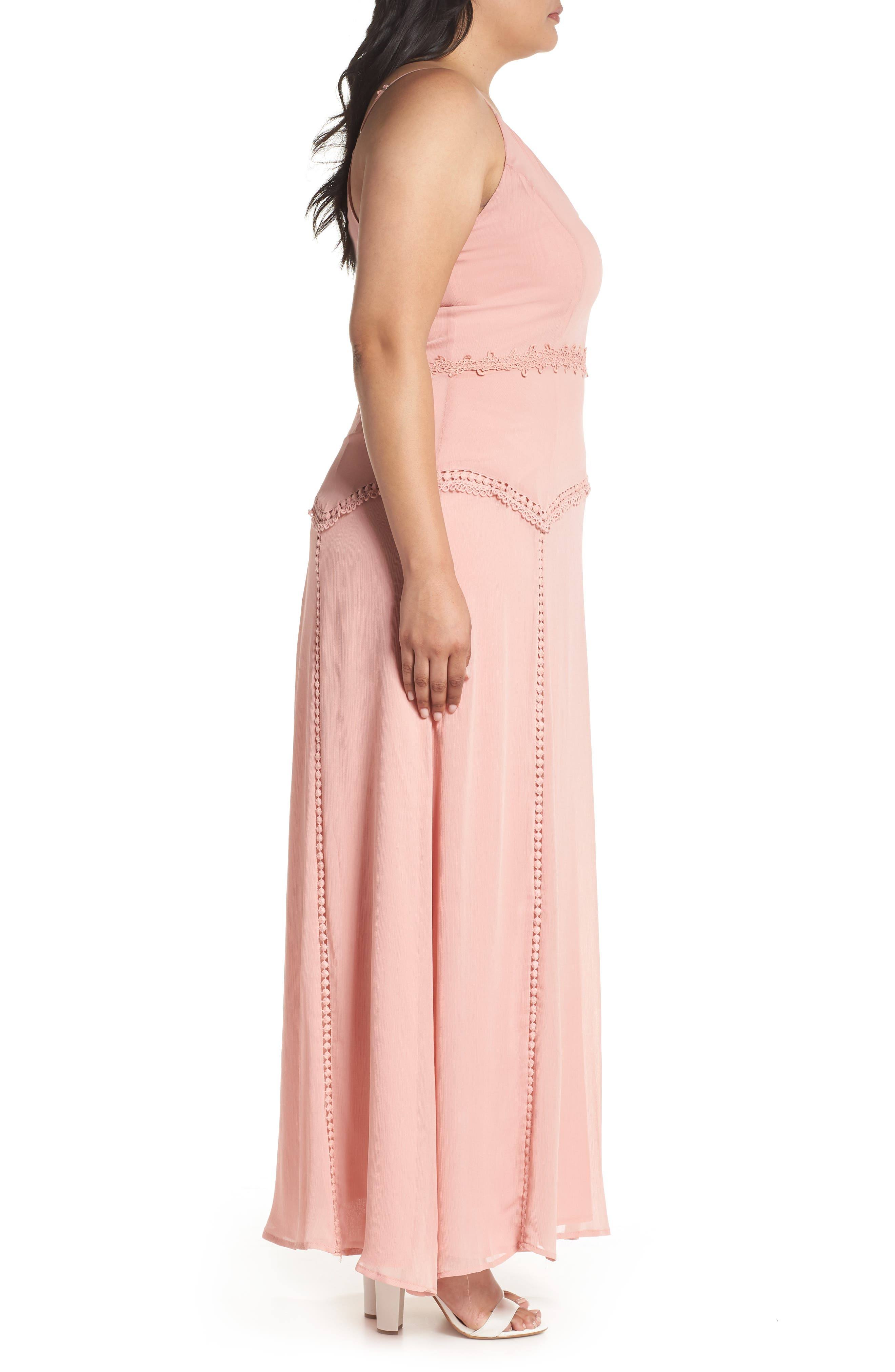 Picot Trim Maxi Dress,                             Alternate thumbnail 3, color,                             650
