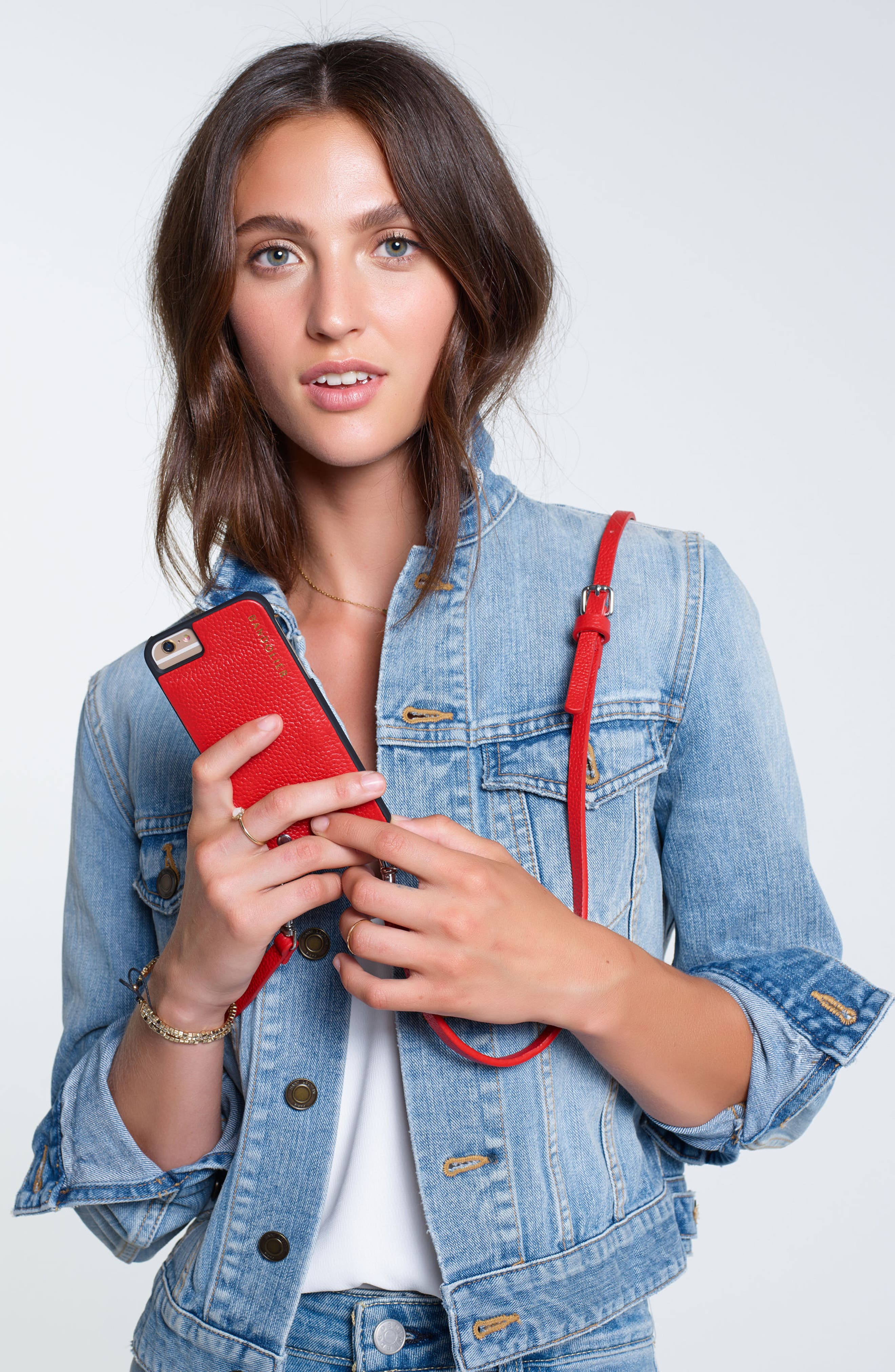 Emma iPhone 6/7/8 & 6/7/8 Plus Crossbody Case,                             Alternate thumbnail 4, color,                             NEW BLACK/ SILVER