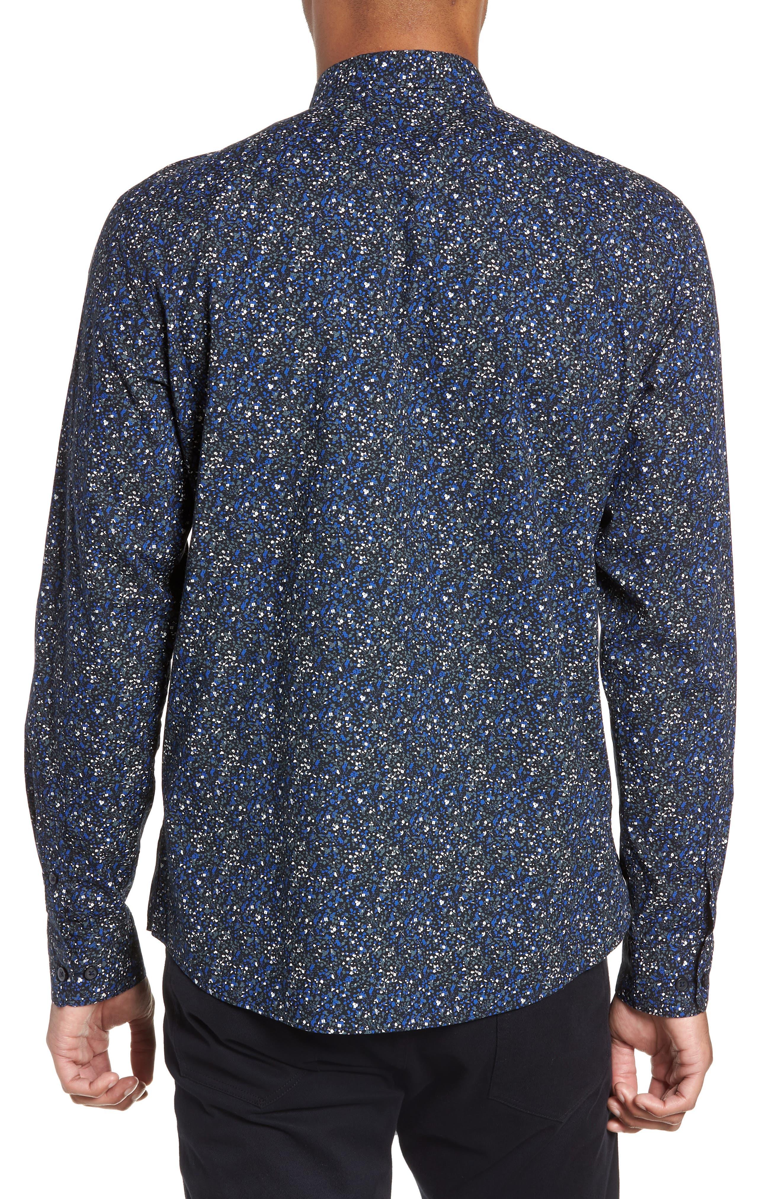 Slim Fit Sport Shirt,                             Alternate thumbnail 3, color,                             ESTATE BLUE