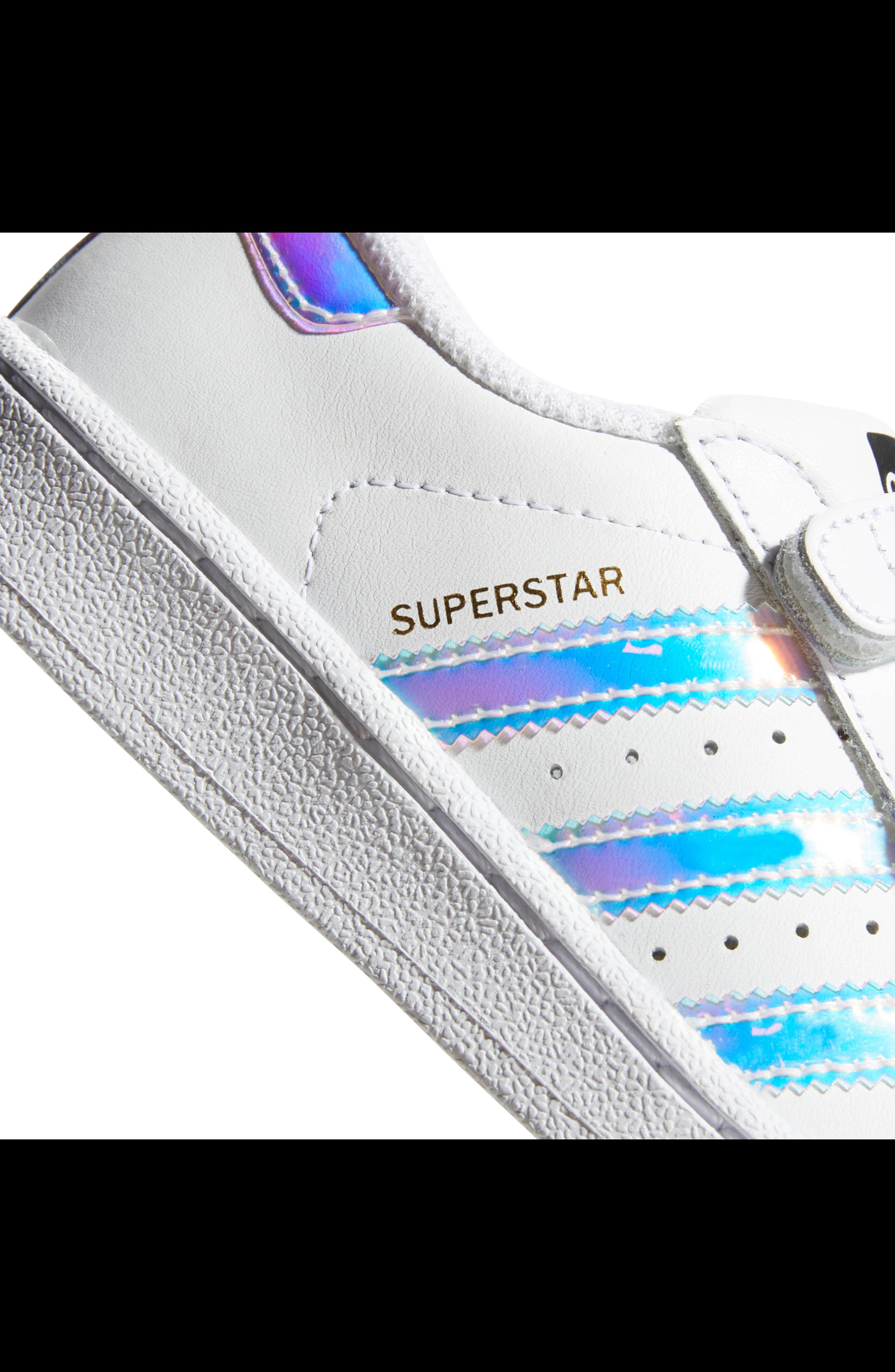 Superstar - Iridescent Sneaker,                             Alternate thumbnail 13, color,                             SILVER METALLIC/ WHITE
