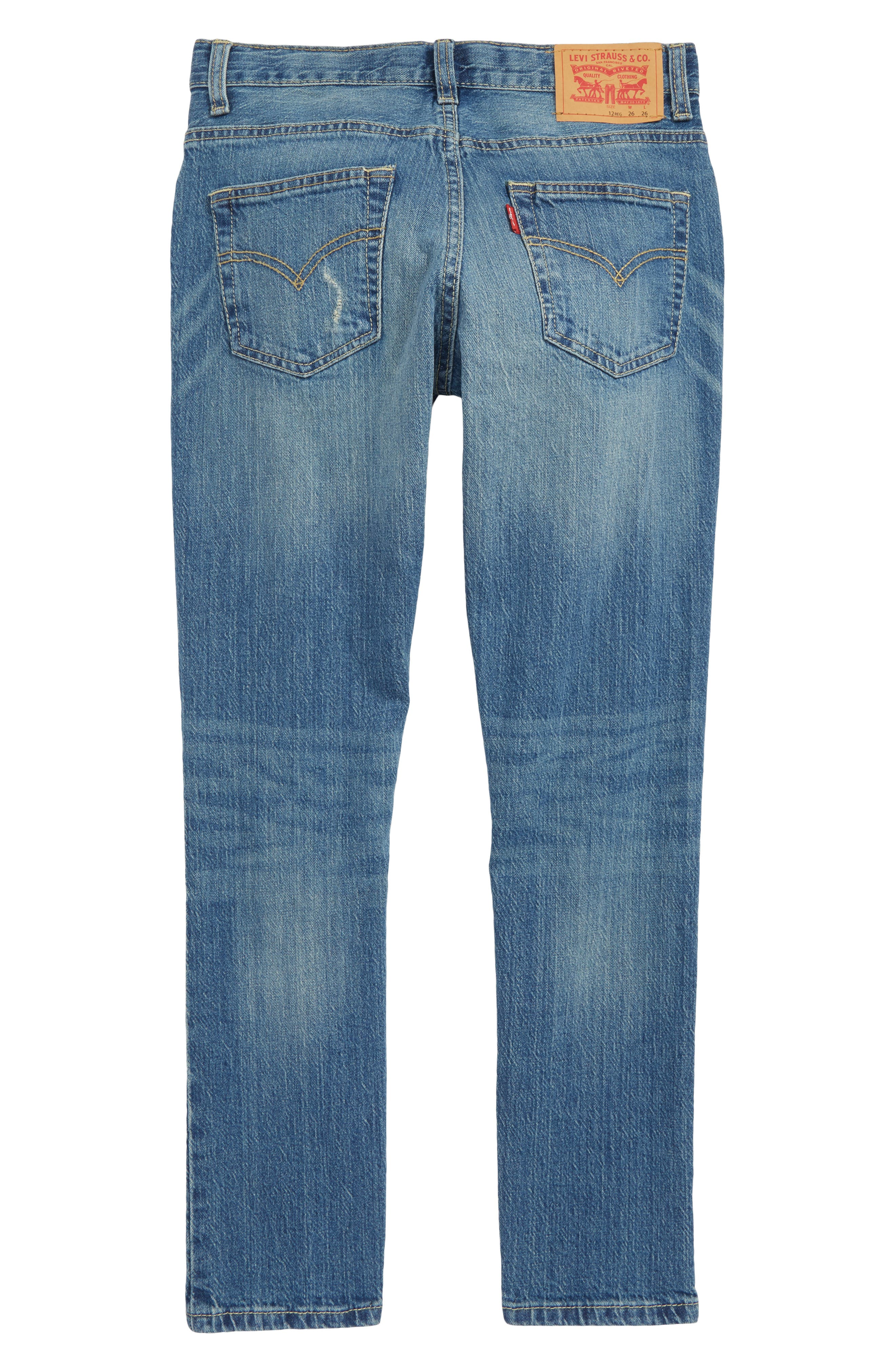 501<sup>®</sup> Skinny Jeans,                             Alternate thumbnail 2, color,                             BLUE
