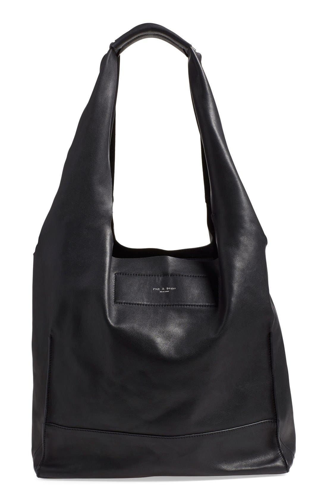 Walker Leather Tote,                         Main,                         color, 001