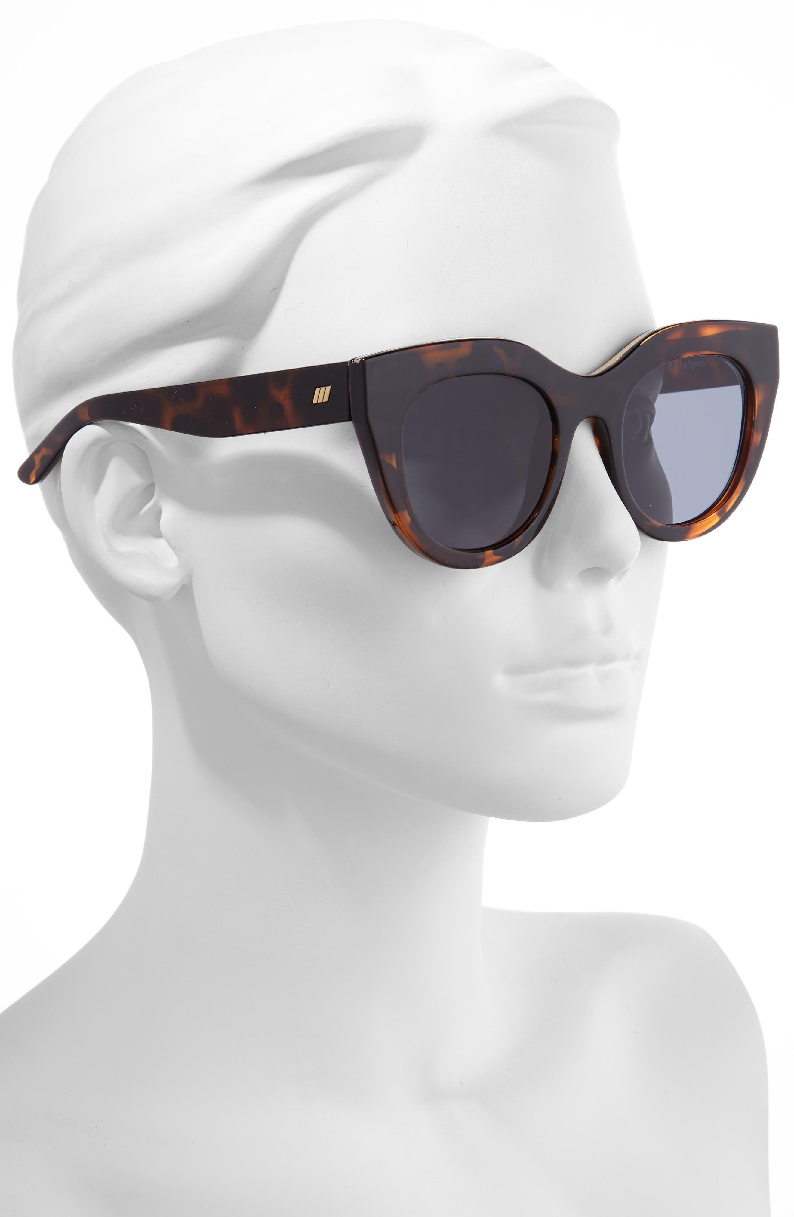 LE SPECS,                             Air Heart 51mm Sunglasses,                             Alternate thumbnail 2, color,                             TORTOISE/ SMOKE