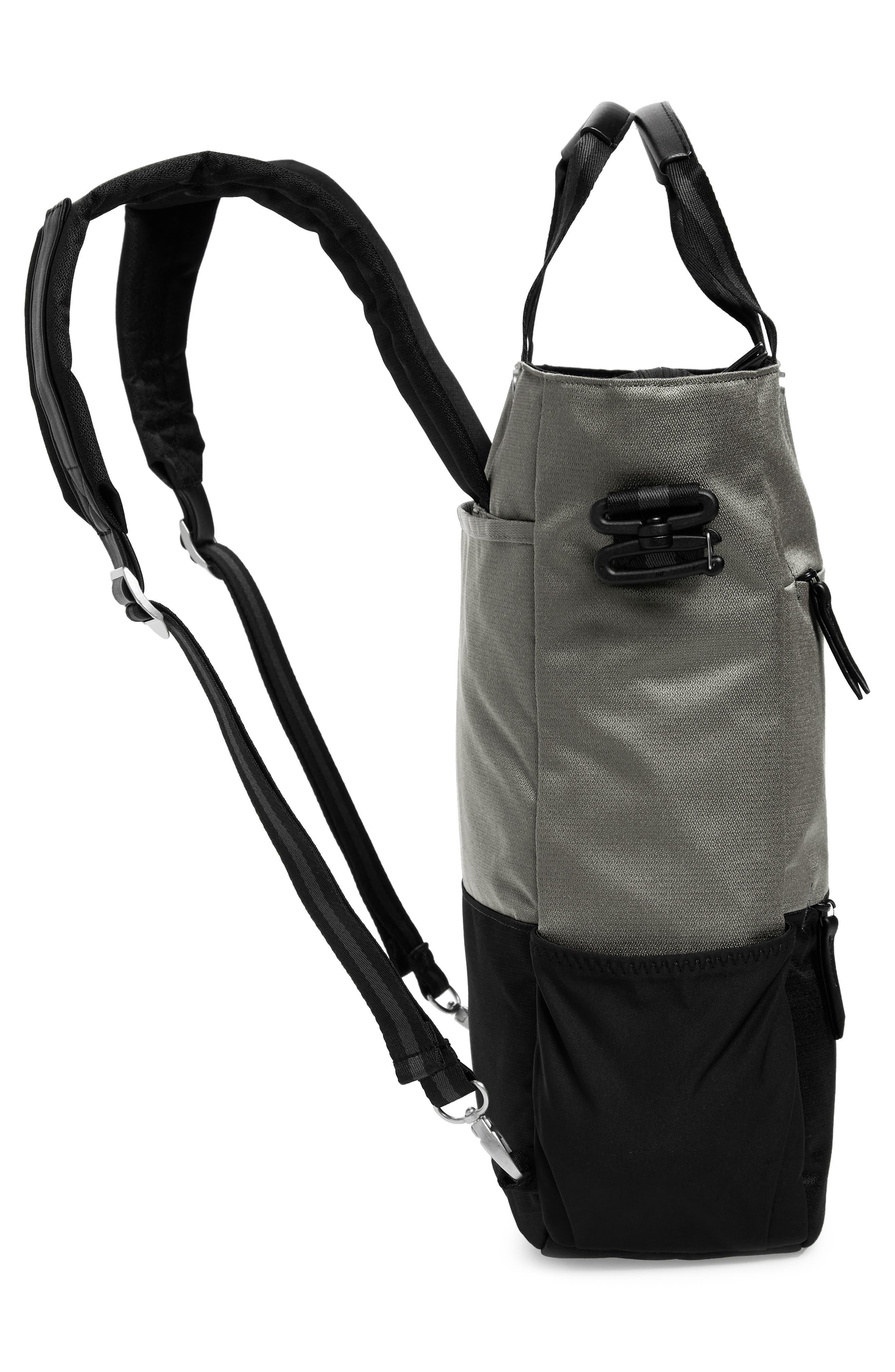 Camden RFID Convertible Backpack,                             Alternate thumbnail 7, color,                             GREY FLINT/ BLACK