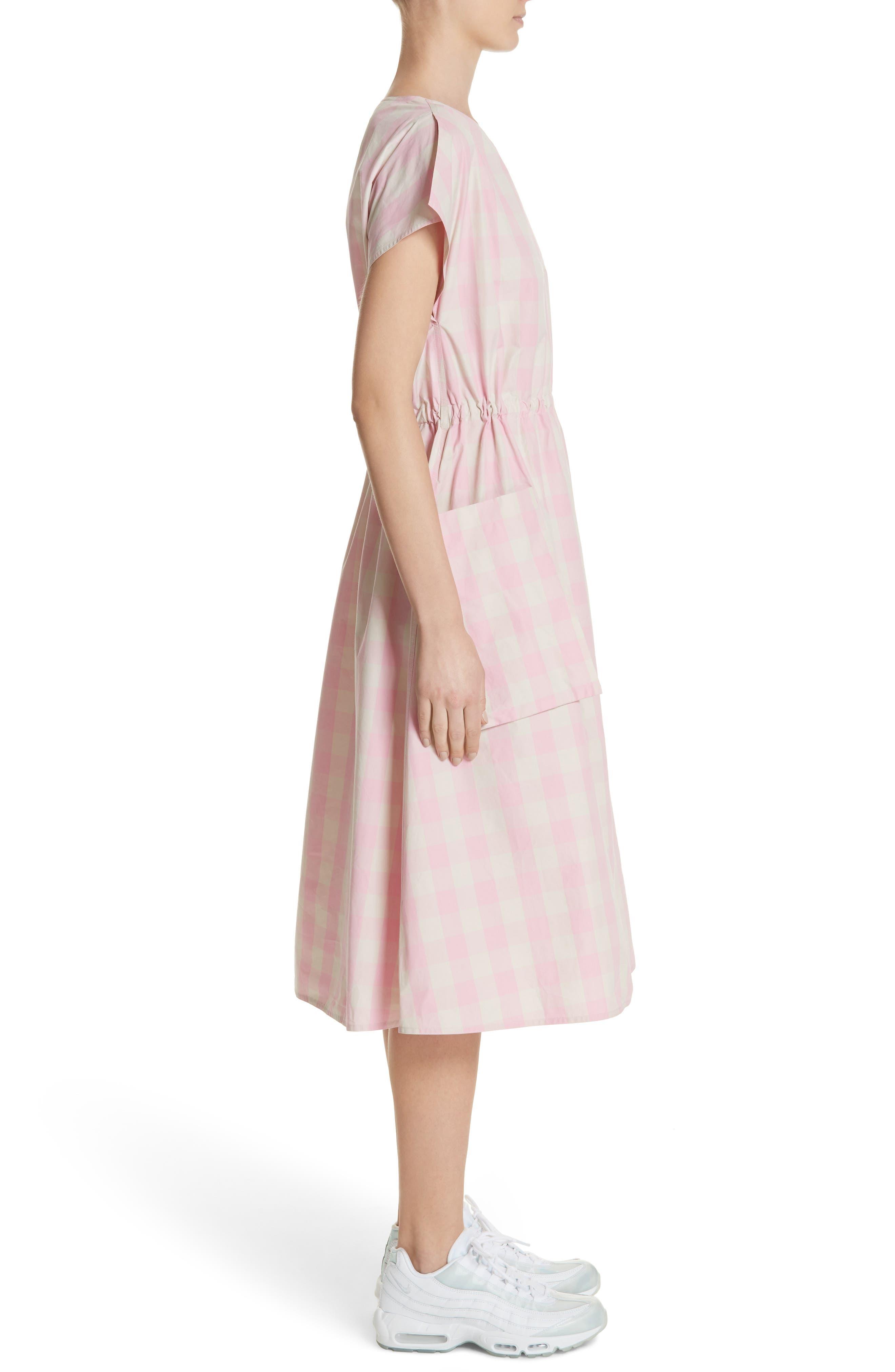 Gathered Waist Gingham Dress,                             Alternate thumbnail 3, color,                             650
