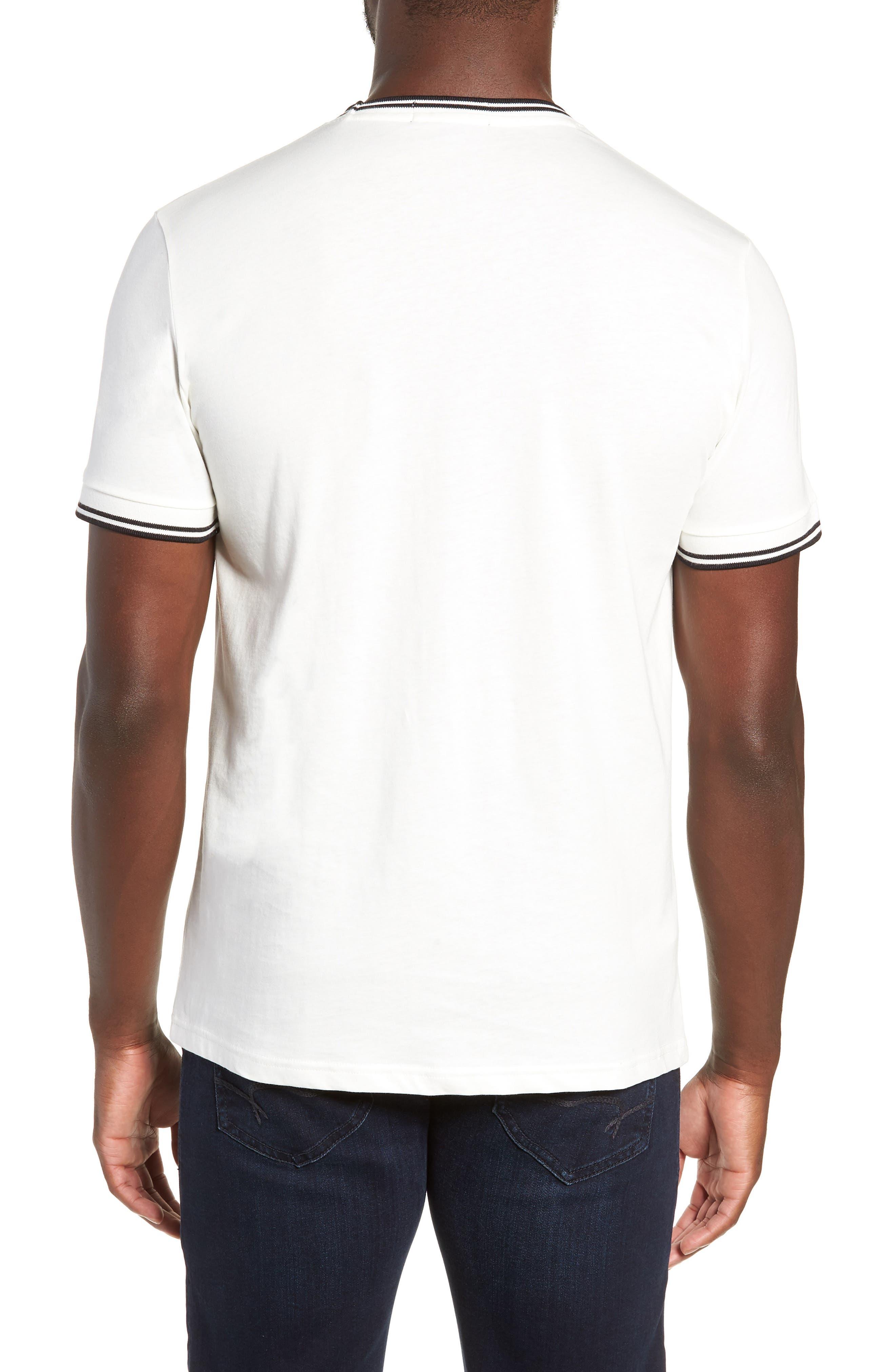 Contrast Trim T-Shirt,                             Alternate thumbnail 2, color,                             SNOW WHITE
