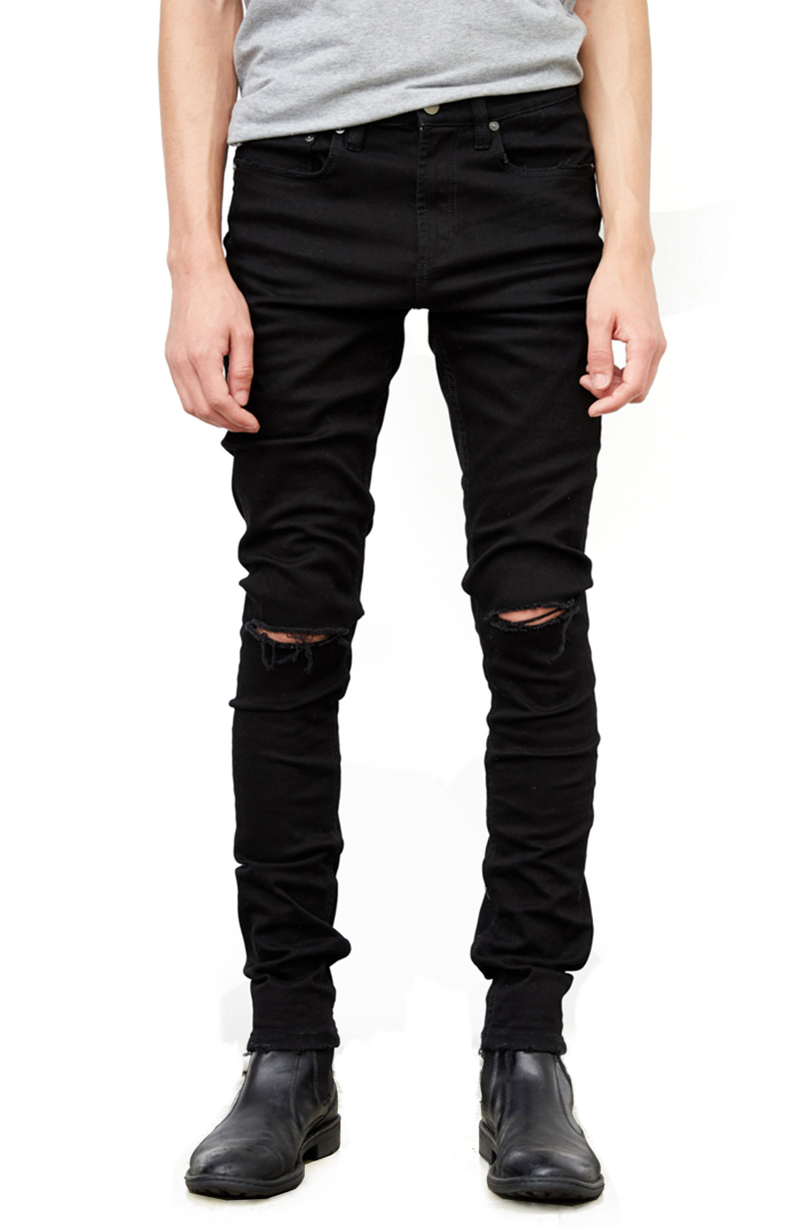 Horatio Distressed Skinny Fit Jeans,                             Main thumbnail 1, color,                             HIGH Q