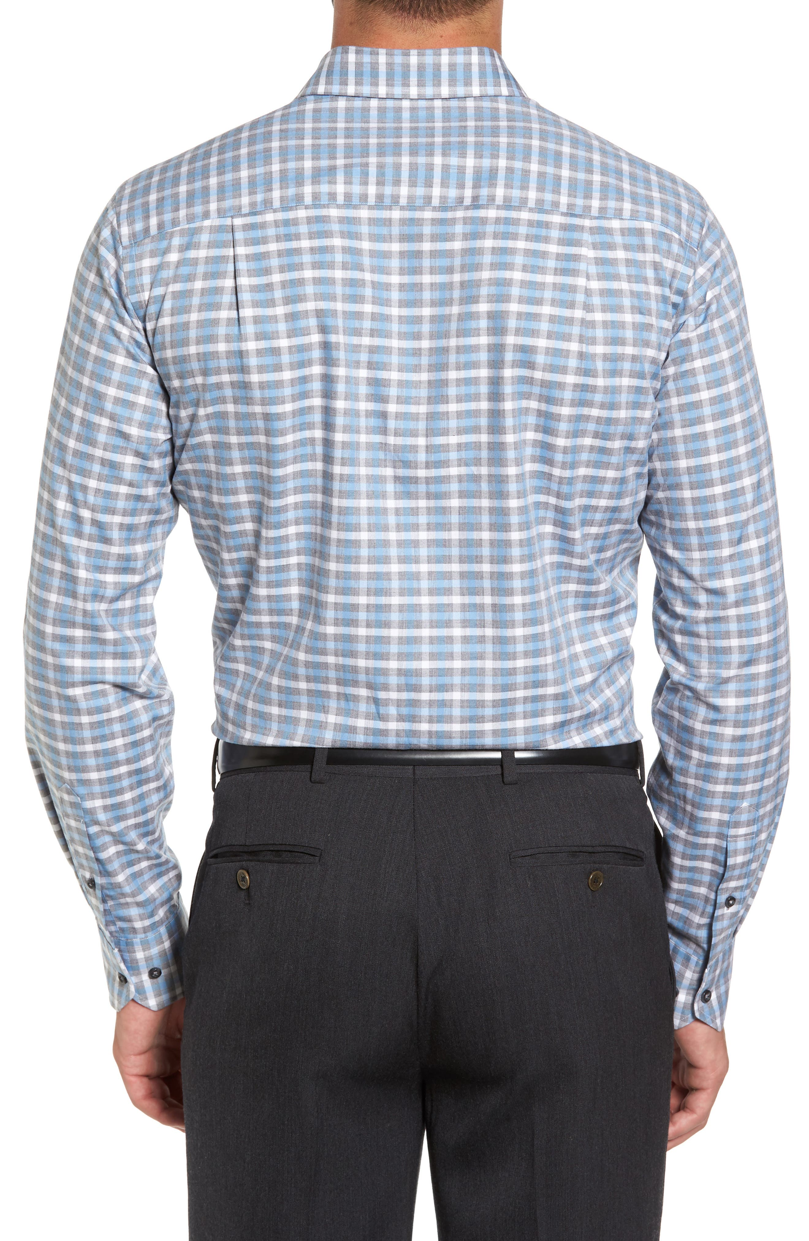 Plaid Regular Fit Sport Shirt,                             Alternate thumbnail 3, color,