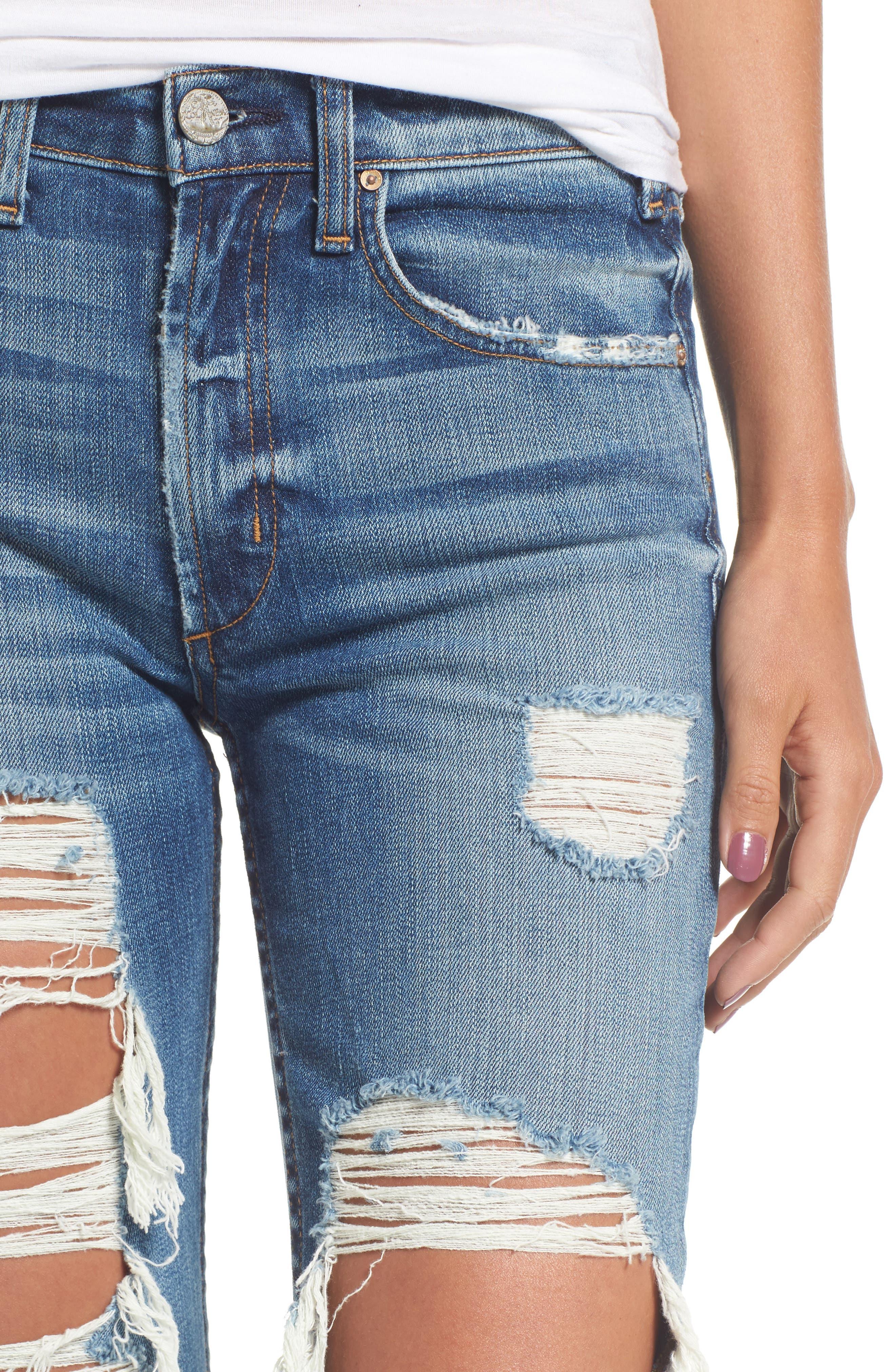 Windsor Destroyed High Waist Straight Leg Jeans,                             Alternate thumbnail 8, color,