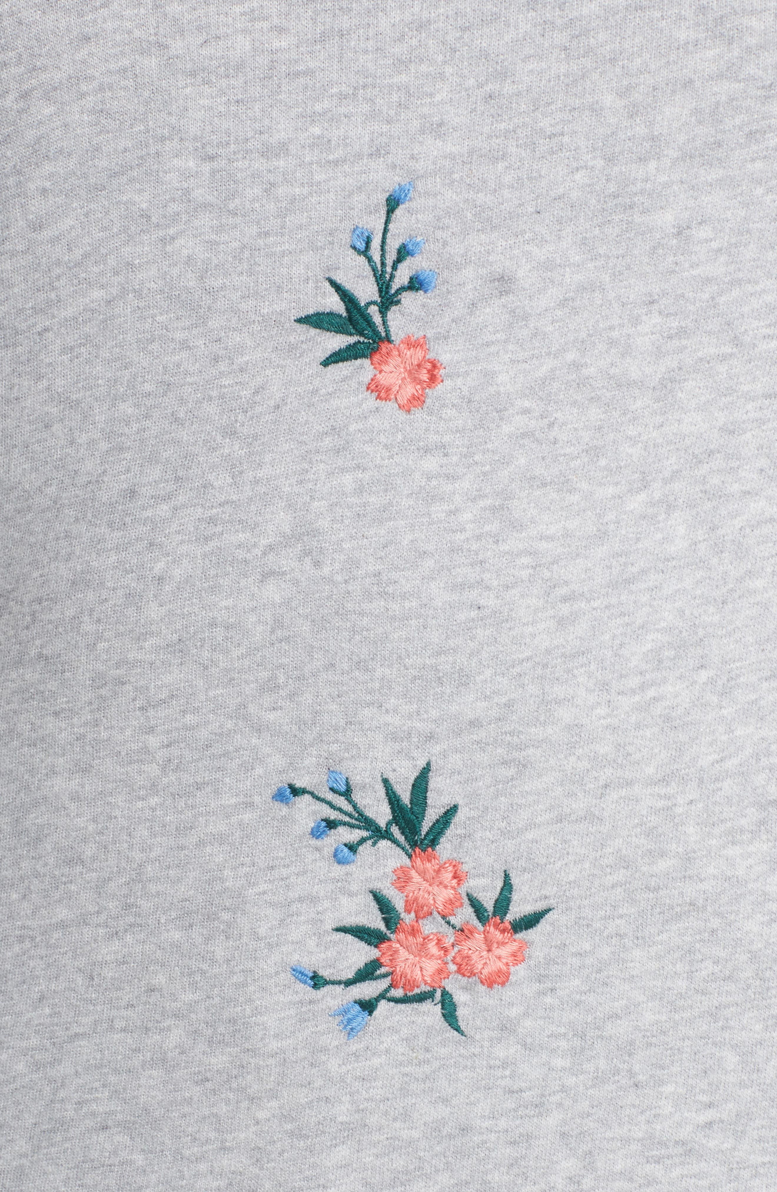 Embroidered Cotton Sweatshirt,                             Alternate thumbnail 5, color,                             030