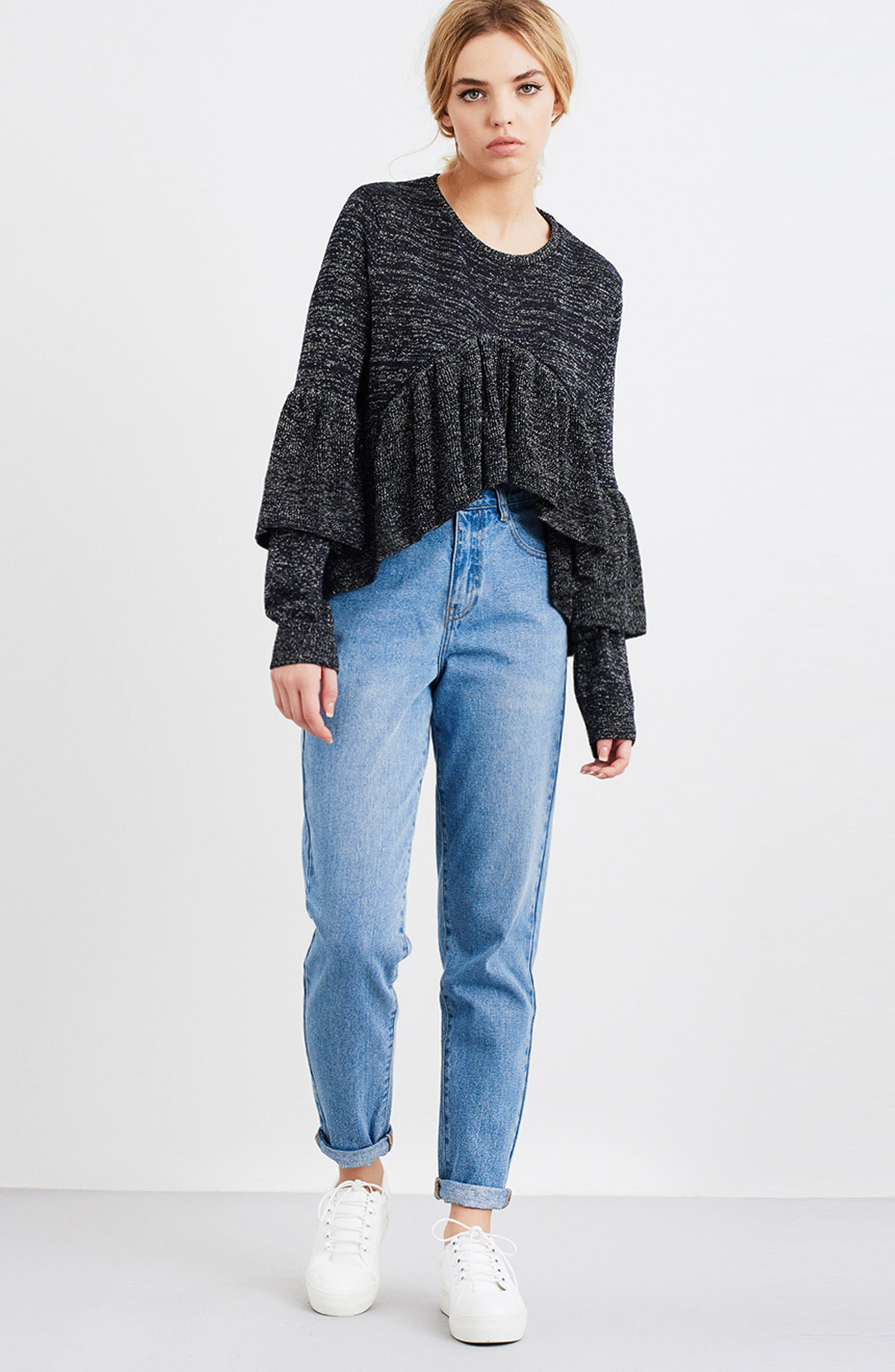 Ruffle Sweater,                             Alternate thumbnail 7, color,                             400