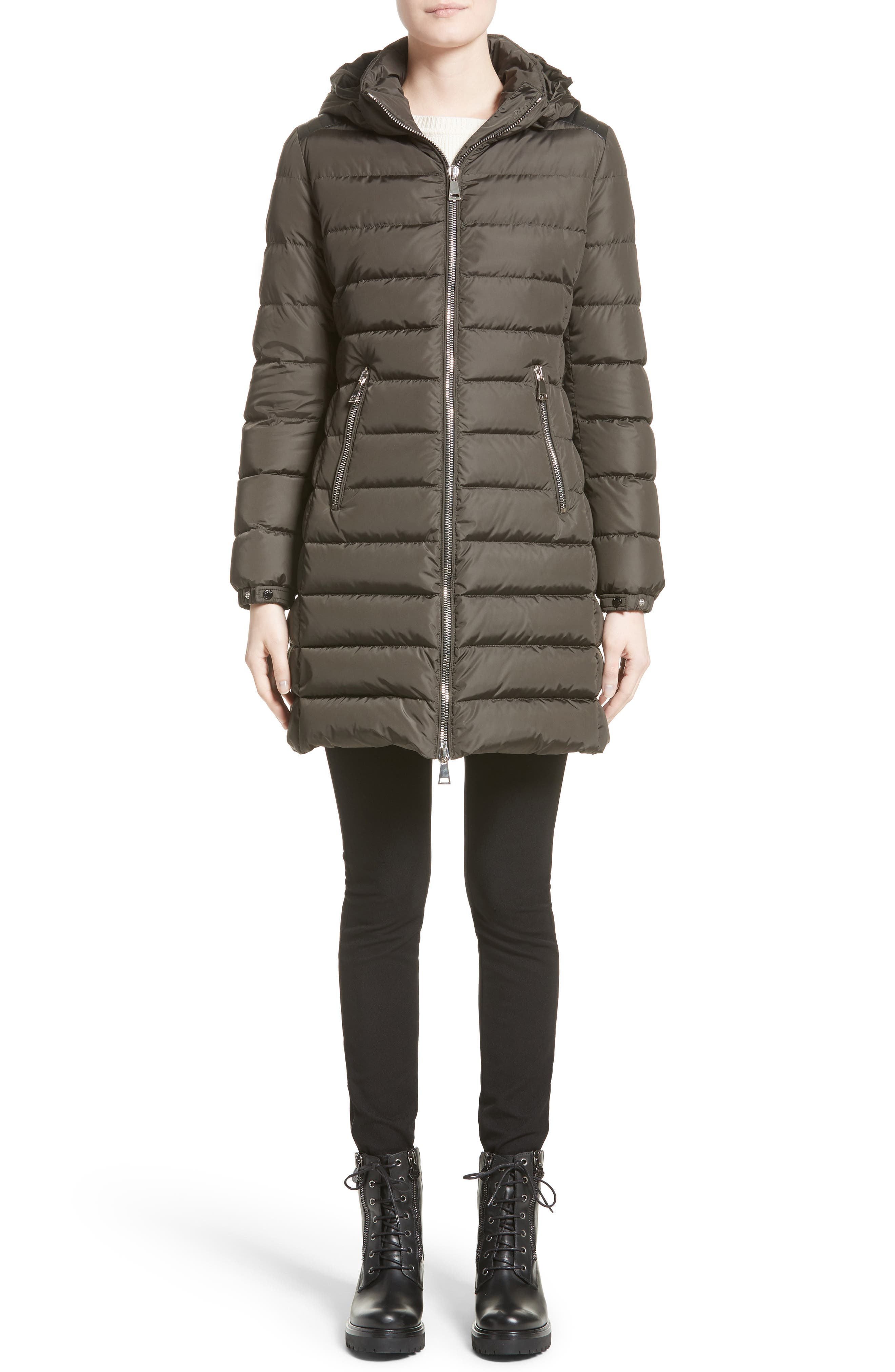 Orophin Hooded Down Puffer Coat,                             Alternate thumbnail 7, color,                             OLIVE