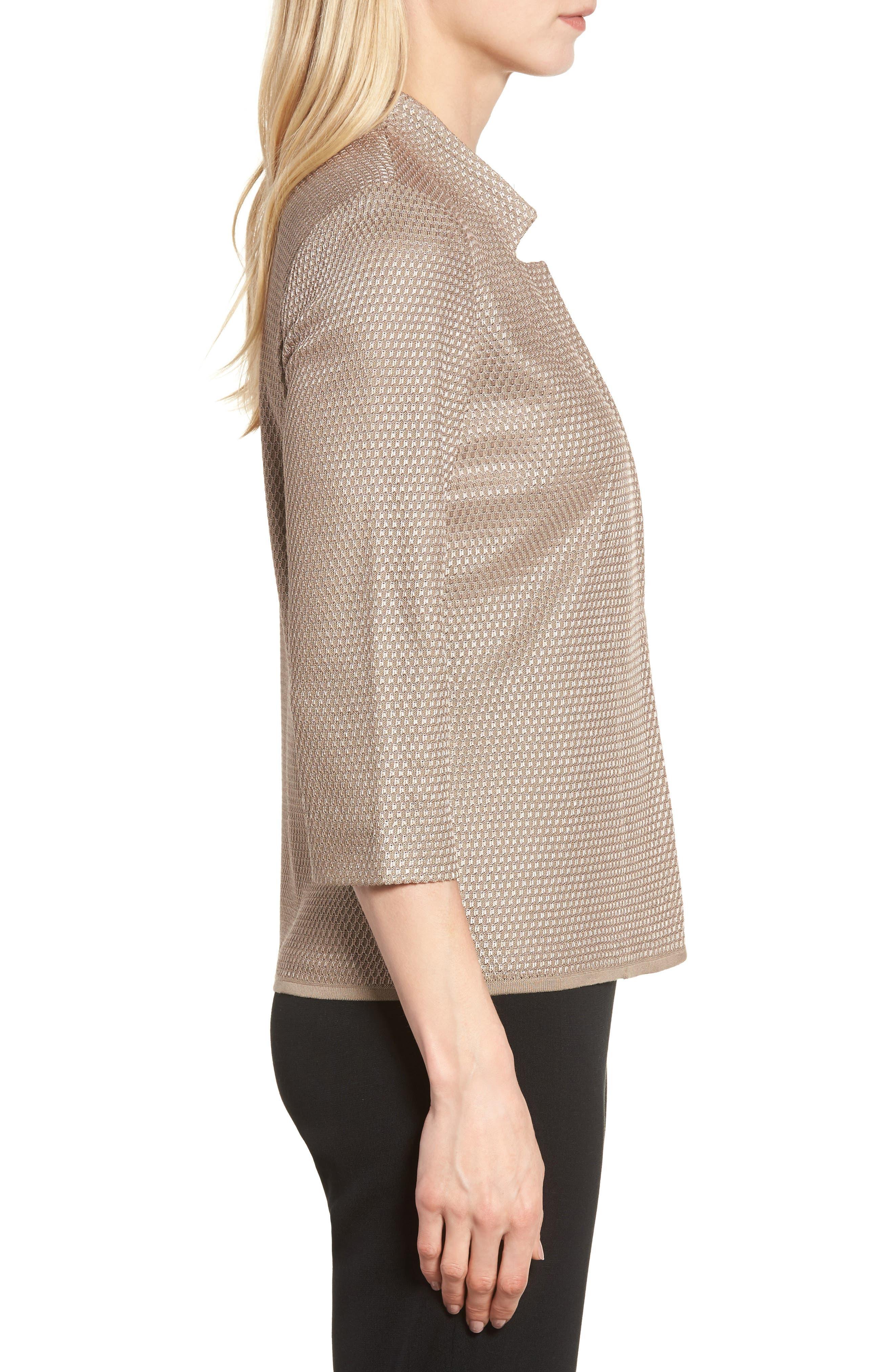 Textured Knit Jacket,                             Alternate thumbnail 3, color,                             250