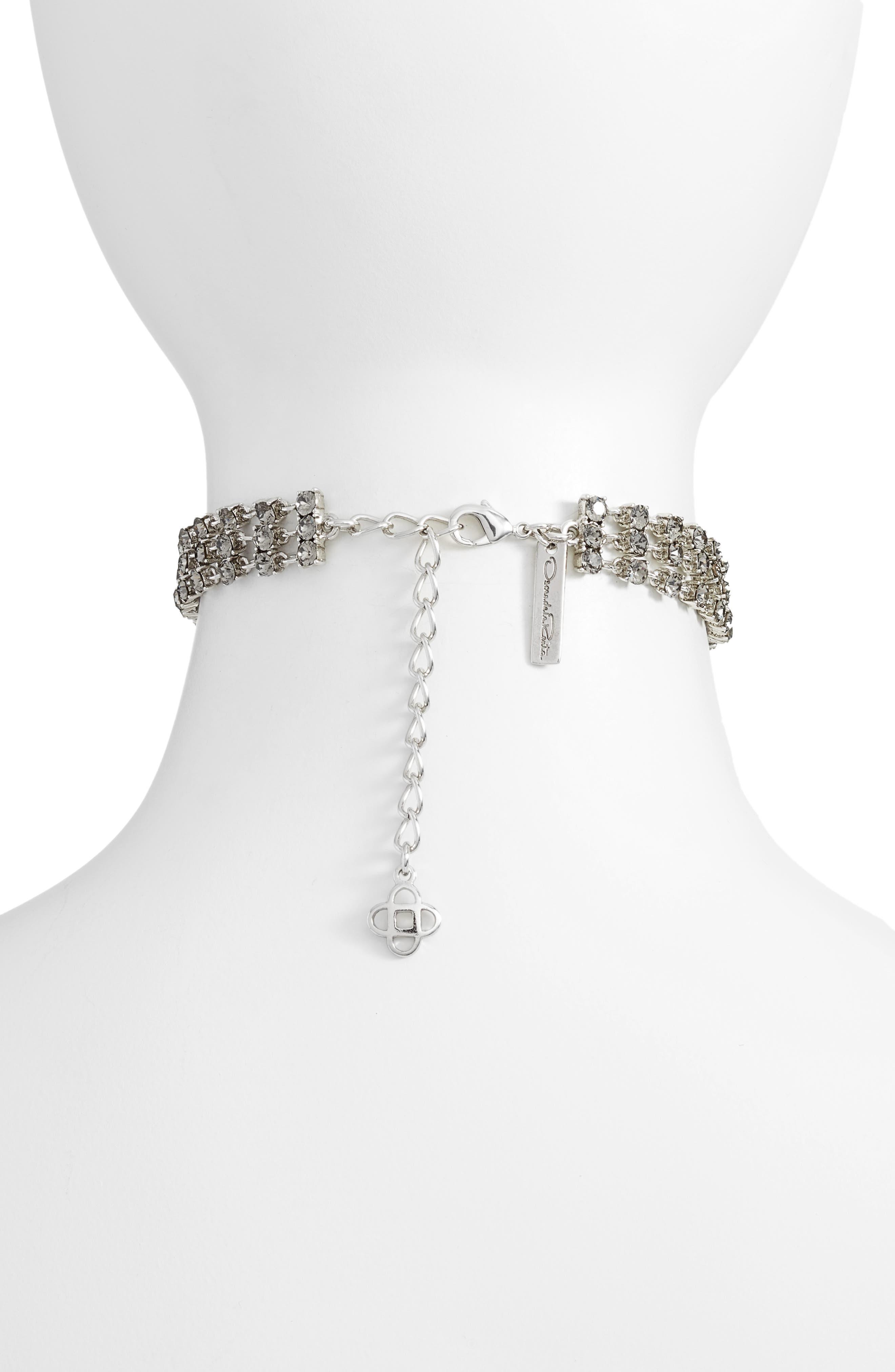 Crystal Tassel Choker Necklace,                             Alternate thumbnail 2, color,