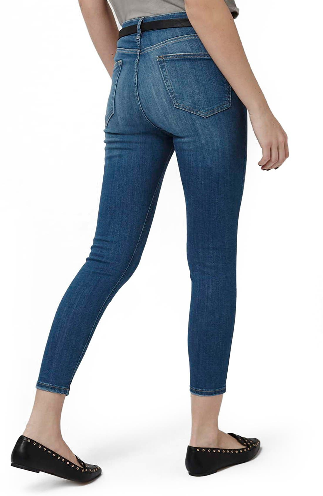 'Jamie' High Waist Ankle Skinny Jeans,                             Alternate thumbnail 4, color,                             400