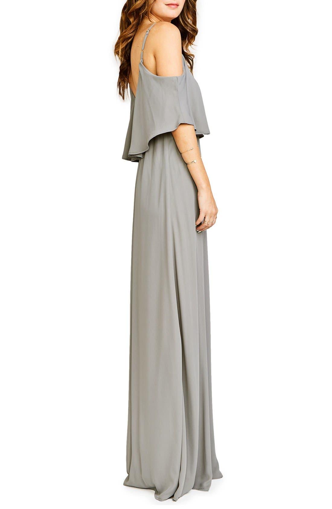 Caitlin Cold Shoulder Chiffon Gown,                             Alternate thumbnail 73, color,