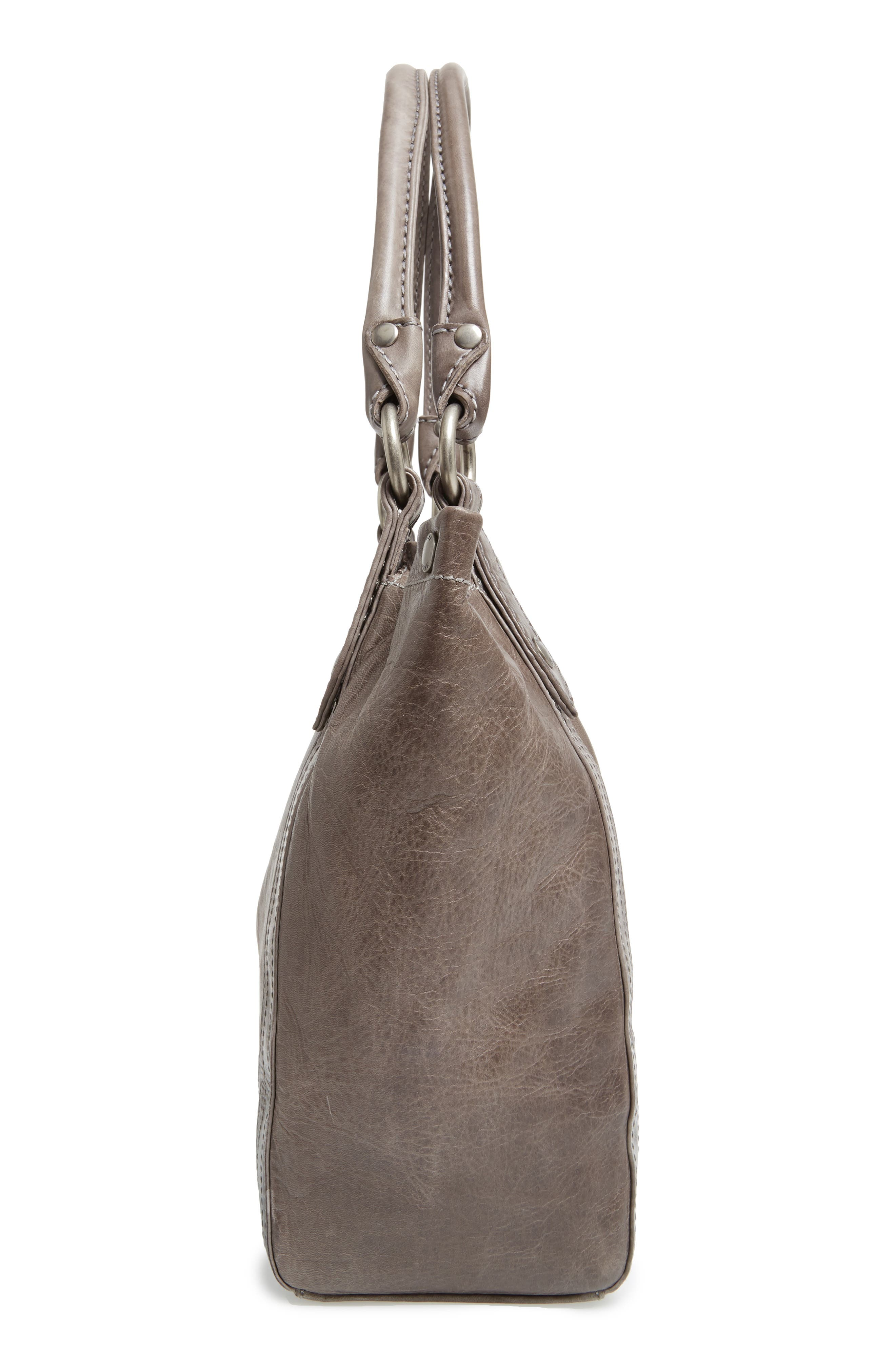 Melissa Leather Shoulder Bag,                             Alternate thumbnail 5, color,                             ICE