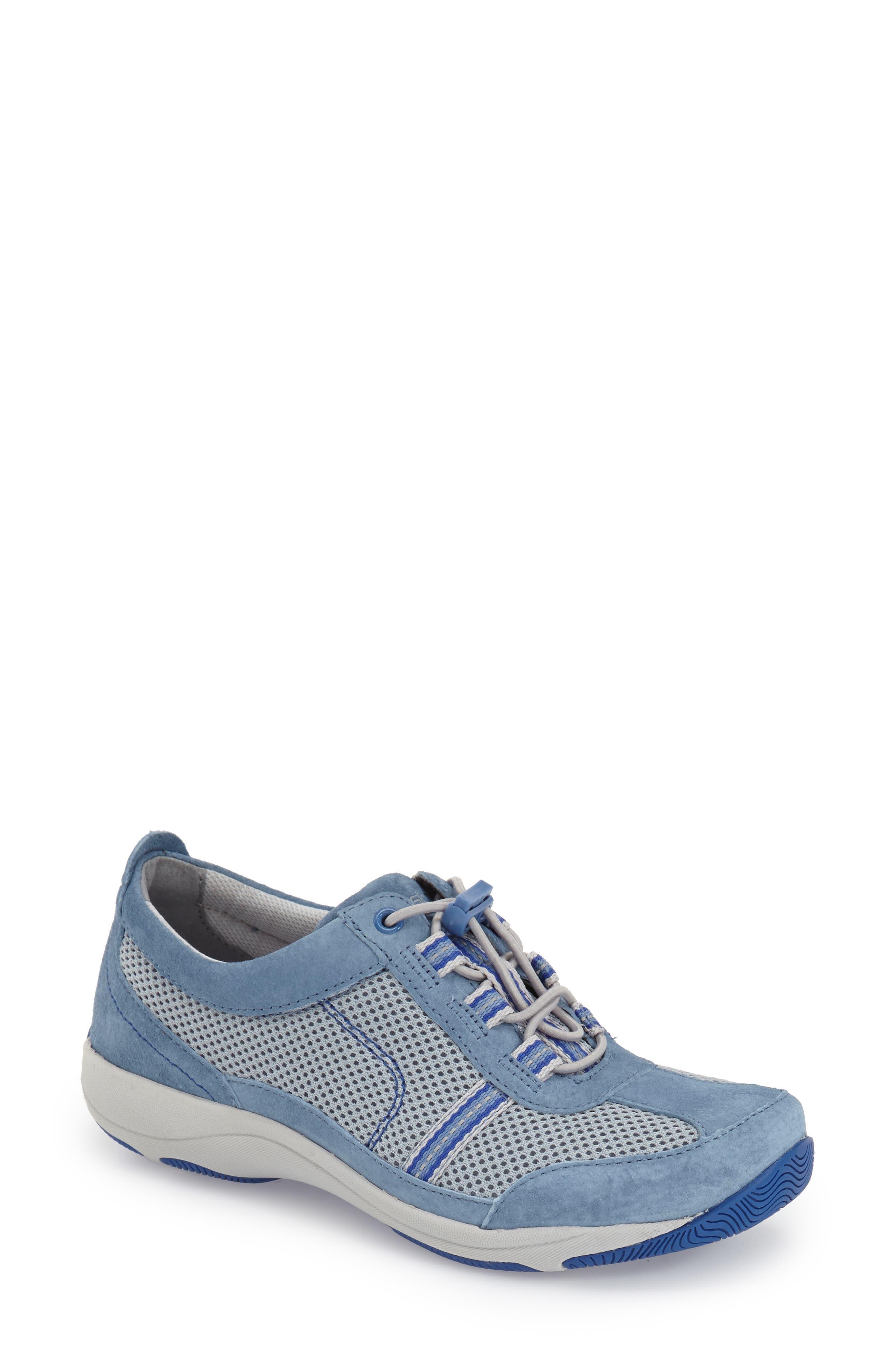 'Helen' Suede & Mesh Sneaker,                             Alternate thumbnail 30, color,