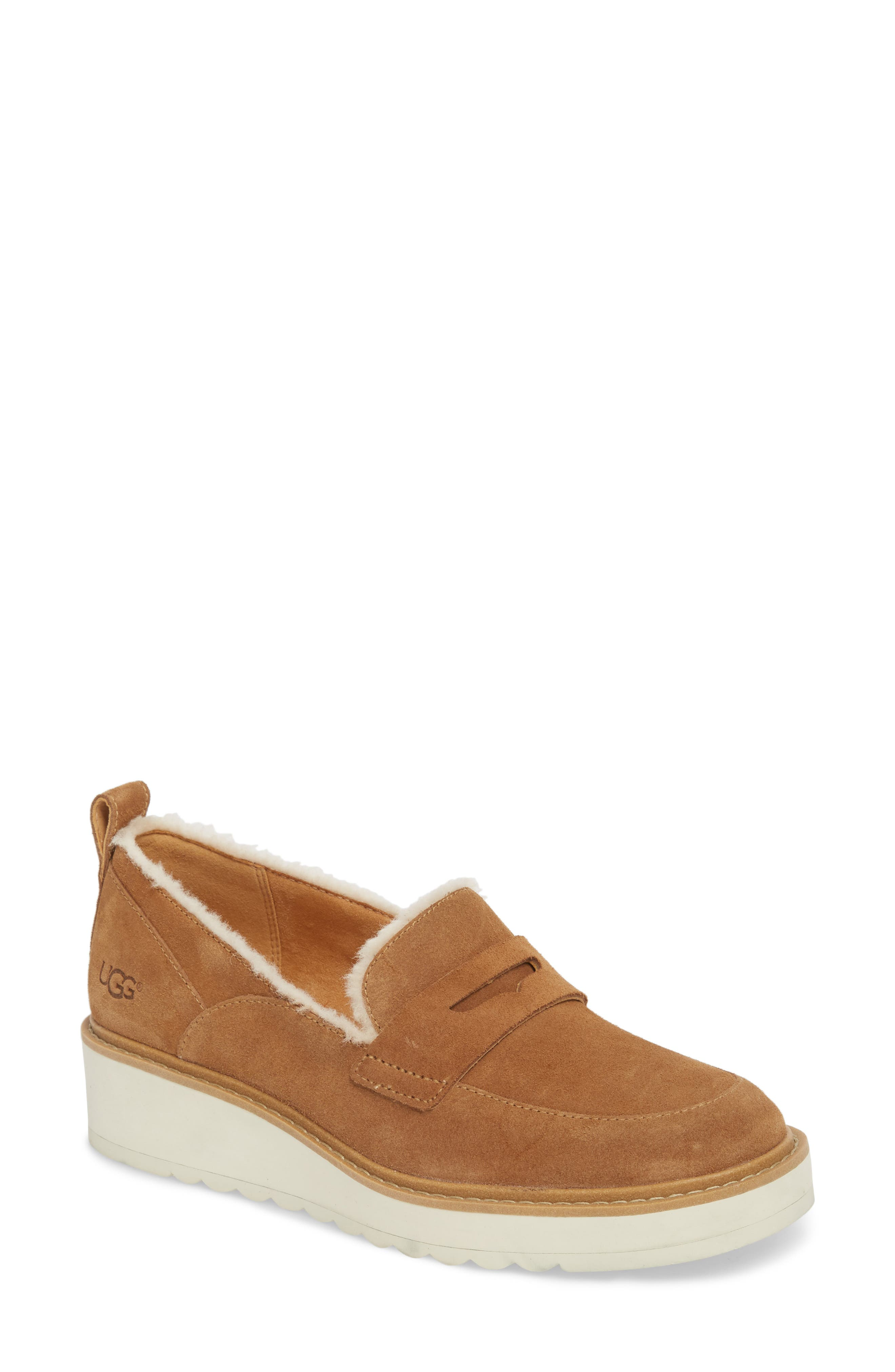 Ugg Atwater Spill Seam Wedge Loafer, Brown