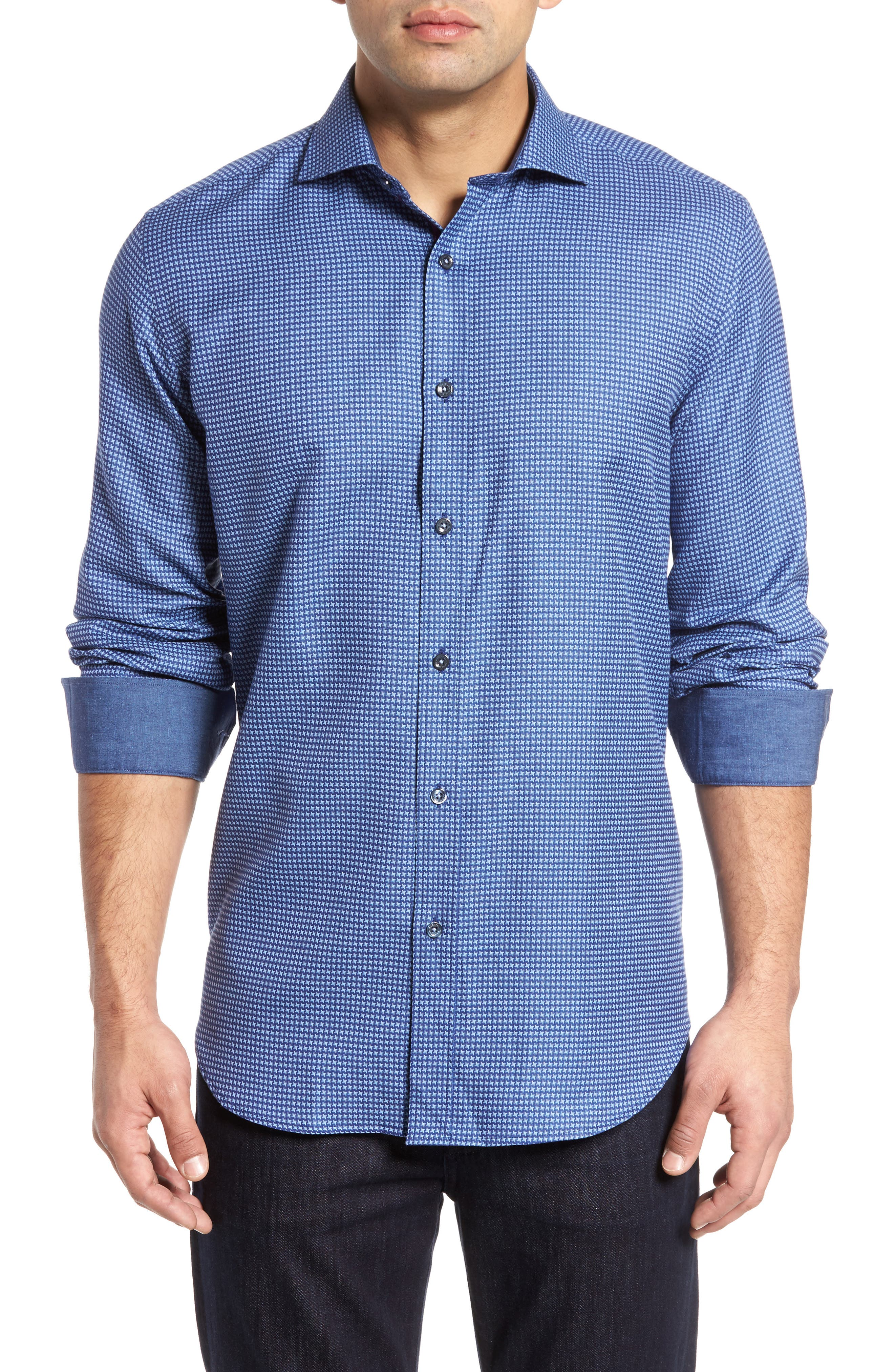 Classic Fit Print Sport Shirt,                         Main,                         color, 411