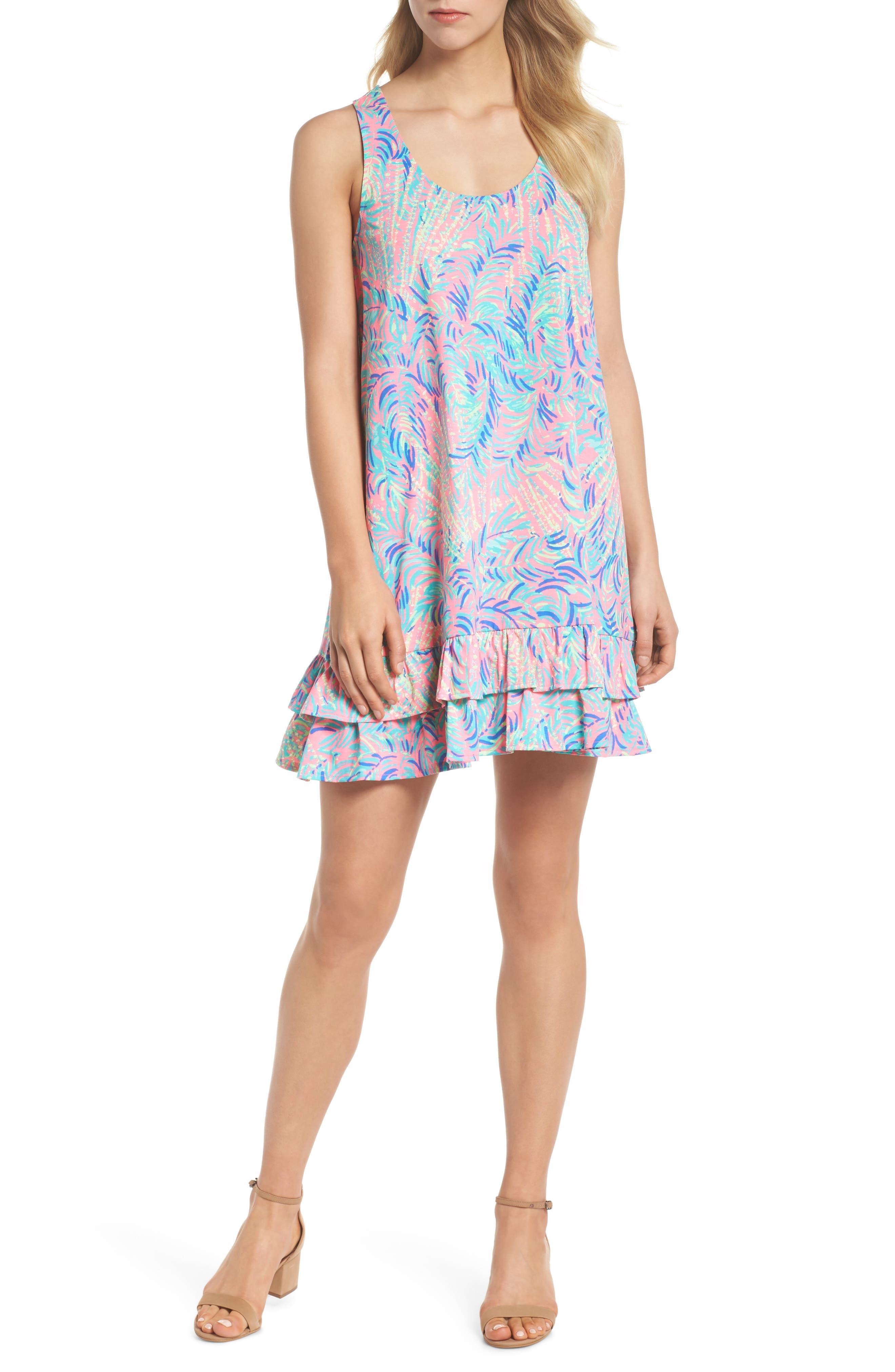 Evangelia Sleeveless Racerback Dress,                             Alternate thumbnail 5, color,                             650