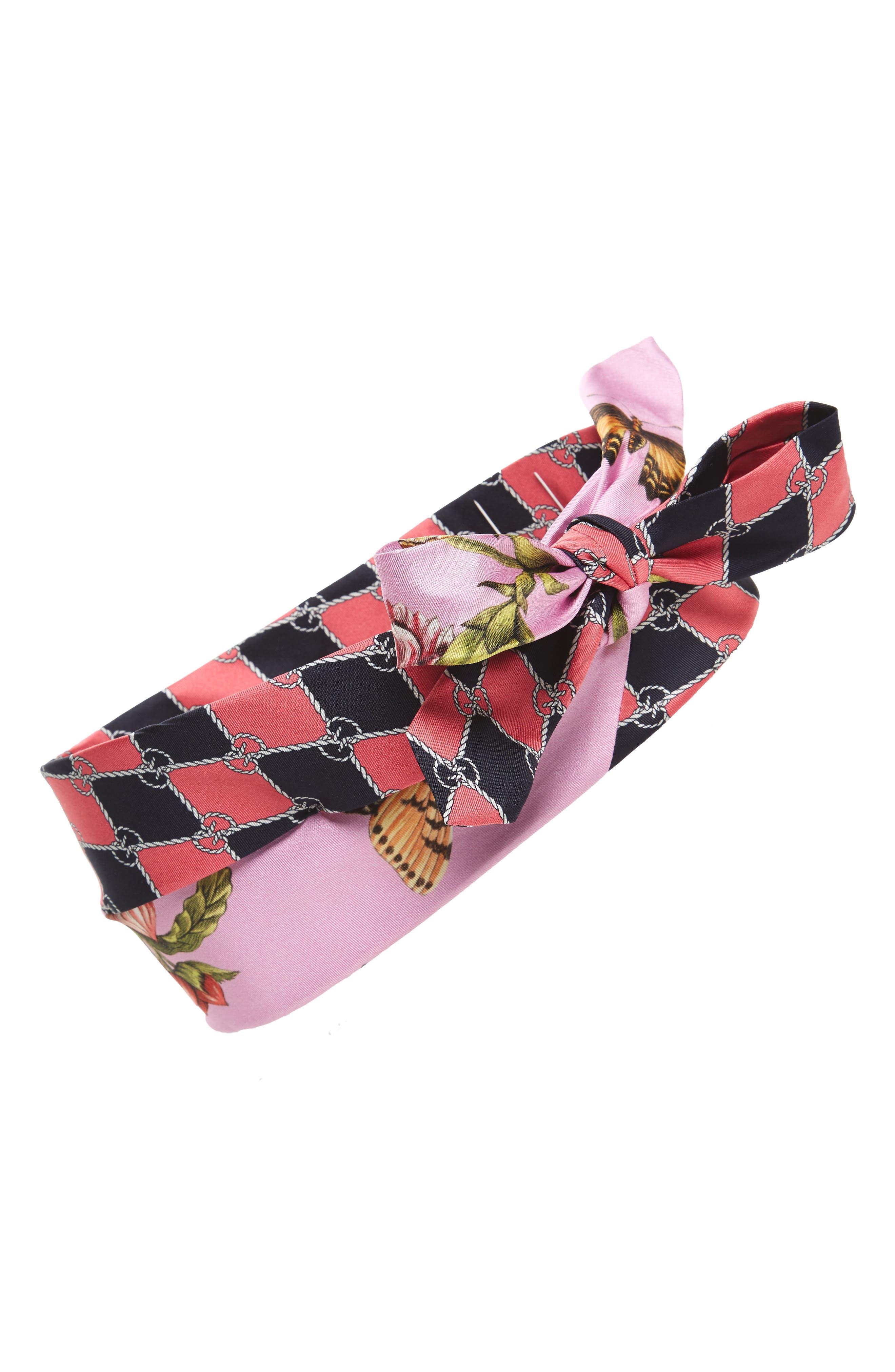 Botanic Chane Silk Headband,                         Main,                         color, 650