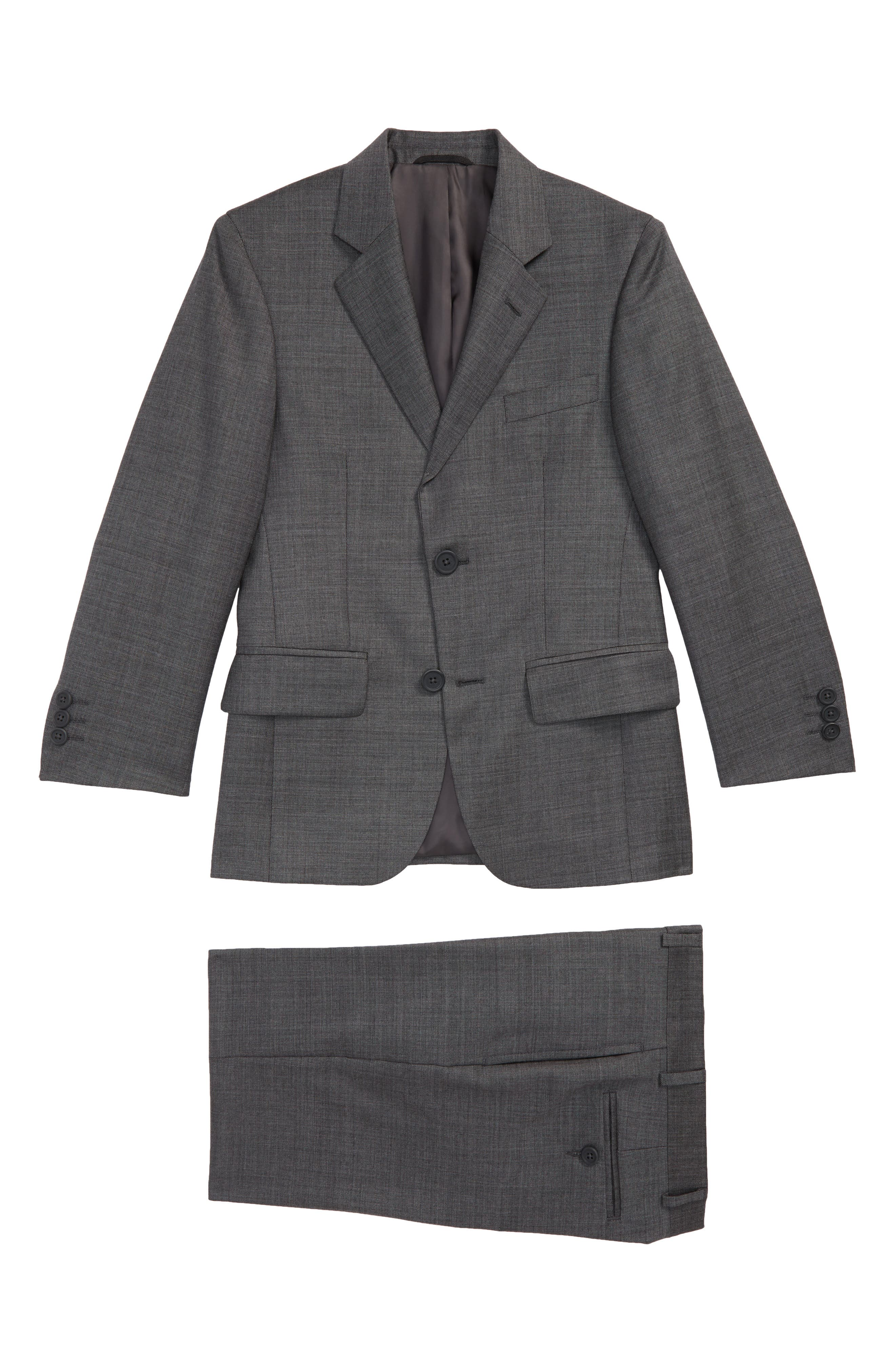 Two-Piece Wool Suit,                         Main,                         color,