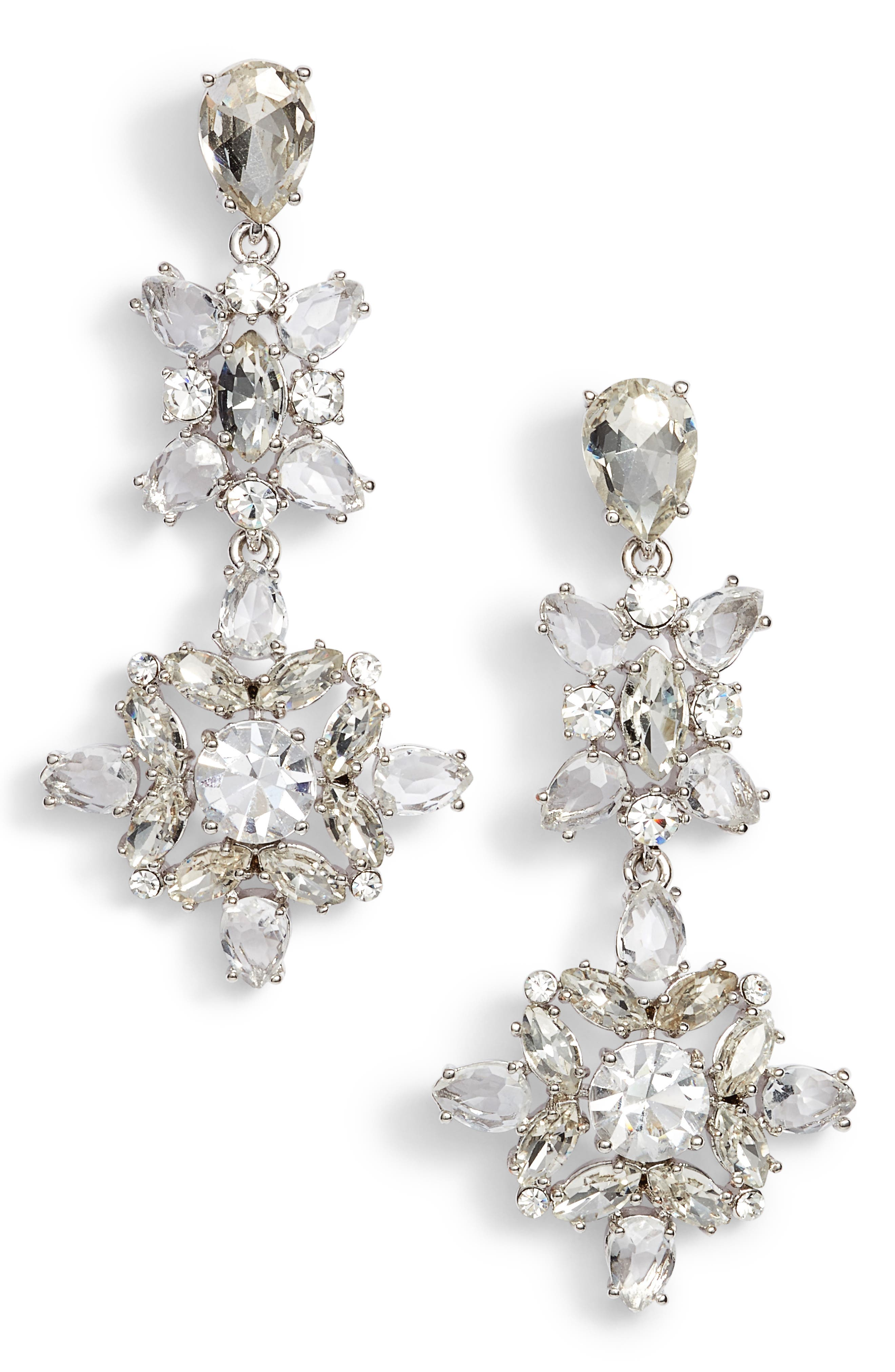 snowy nights linear statement earrings,                             Main thumbnail 1, color,                             040