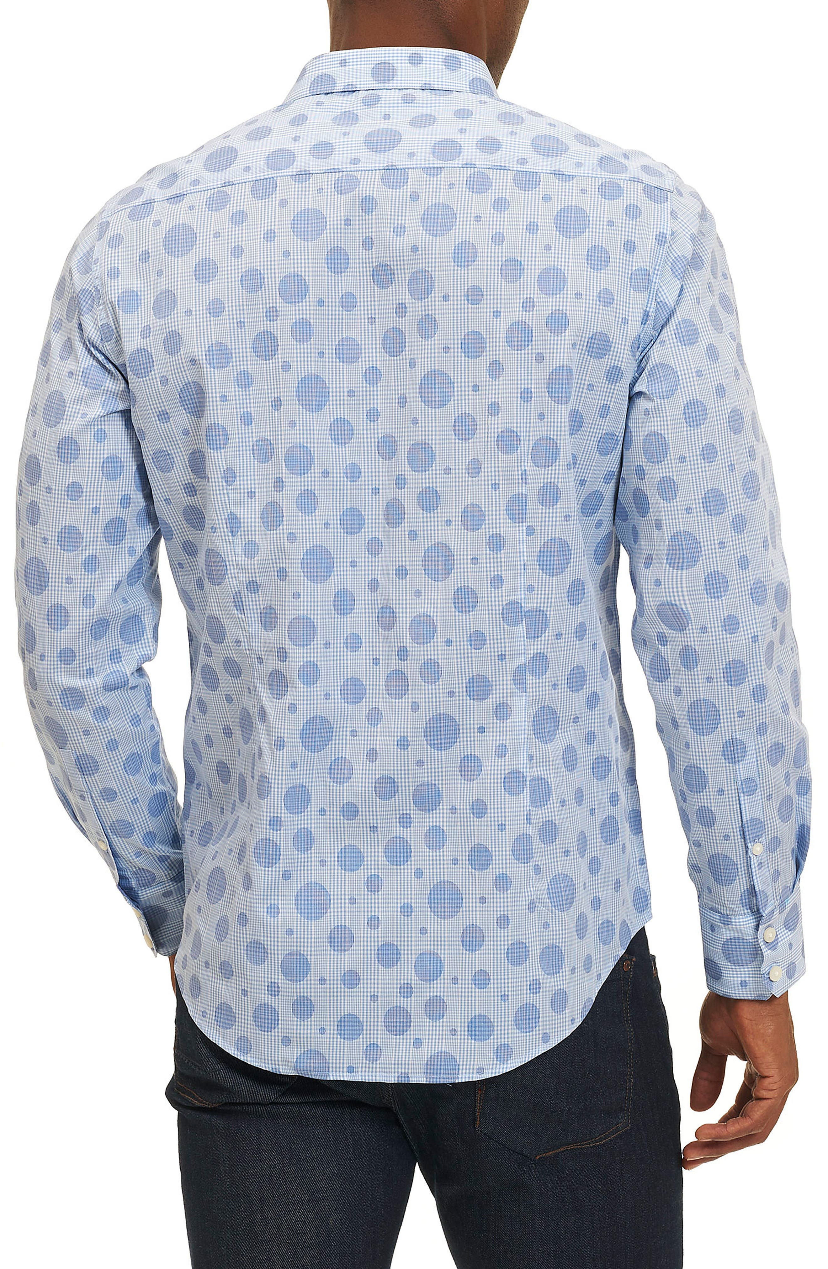 Phillip Print Sport Shirt,                             Alternate thumbnail 2, color,                             400