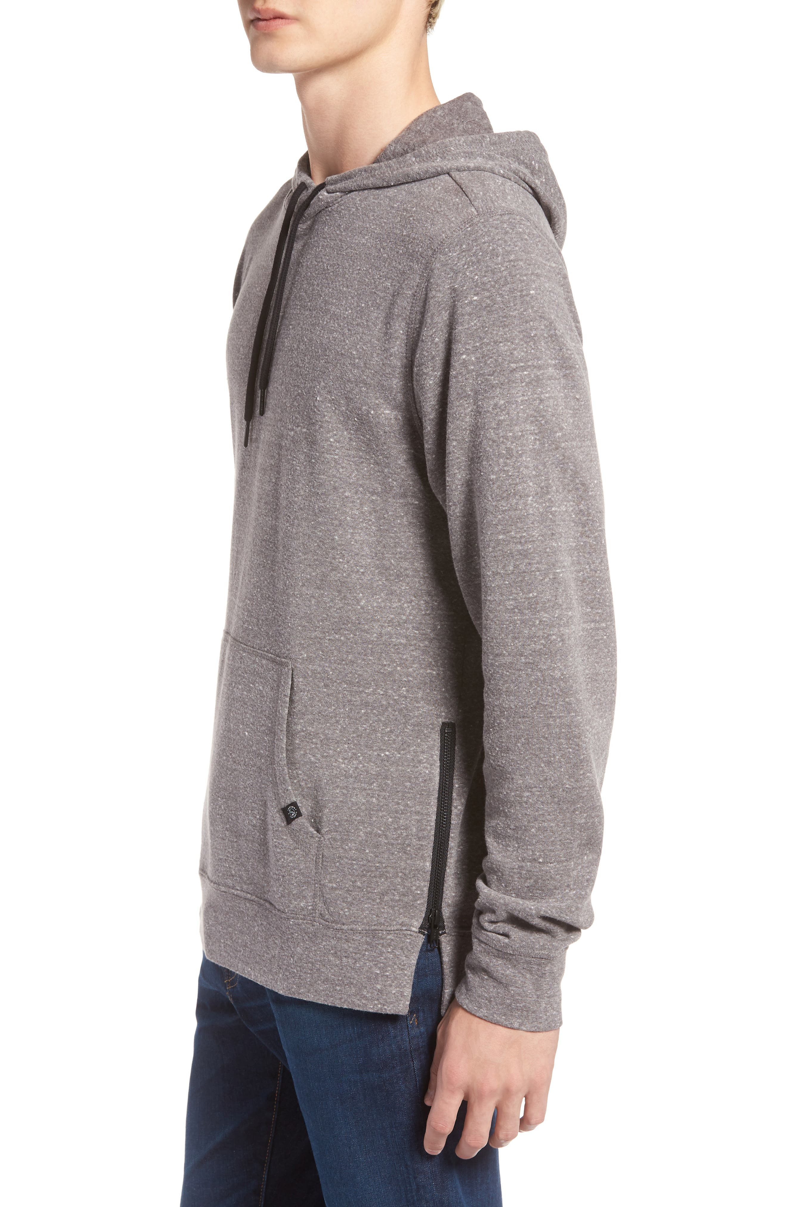 THREADS FOR THOUGHT,                             Barkeley Side Zip Hoodie Sweatshirt,                             Alternate thumbnail 3, color,                             020