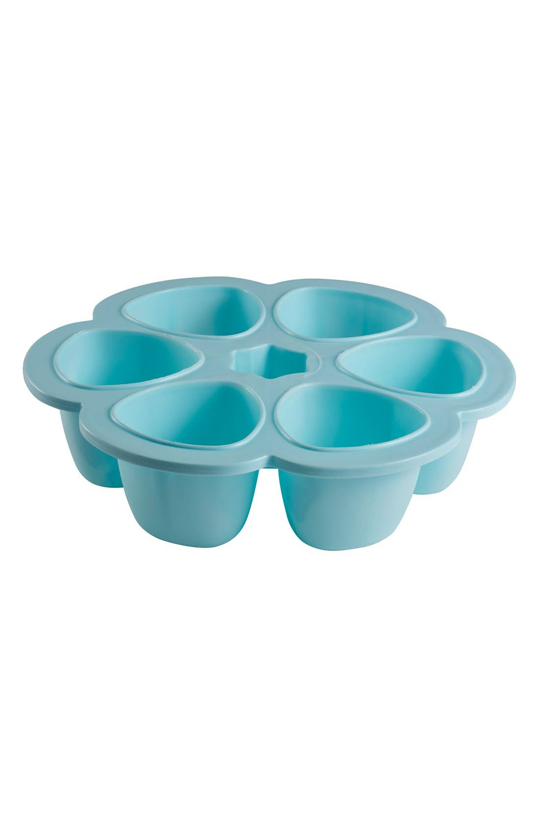 Multiportions<sup>™</sup> Silicone 3 oz. Food Cup Tray,                             Main thumbnail 1, color,                             SKY