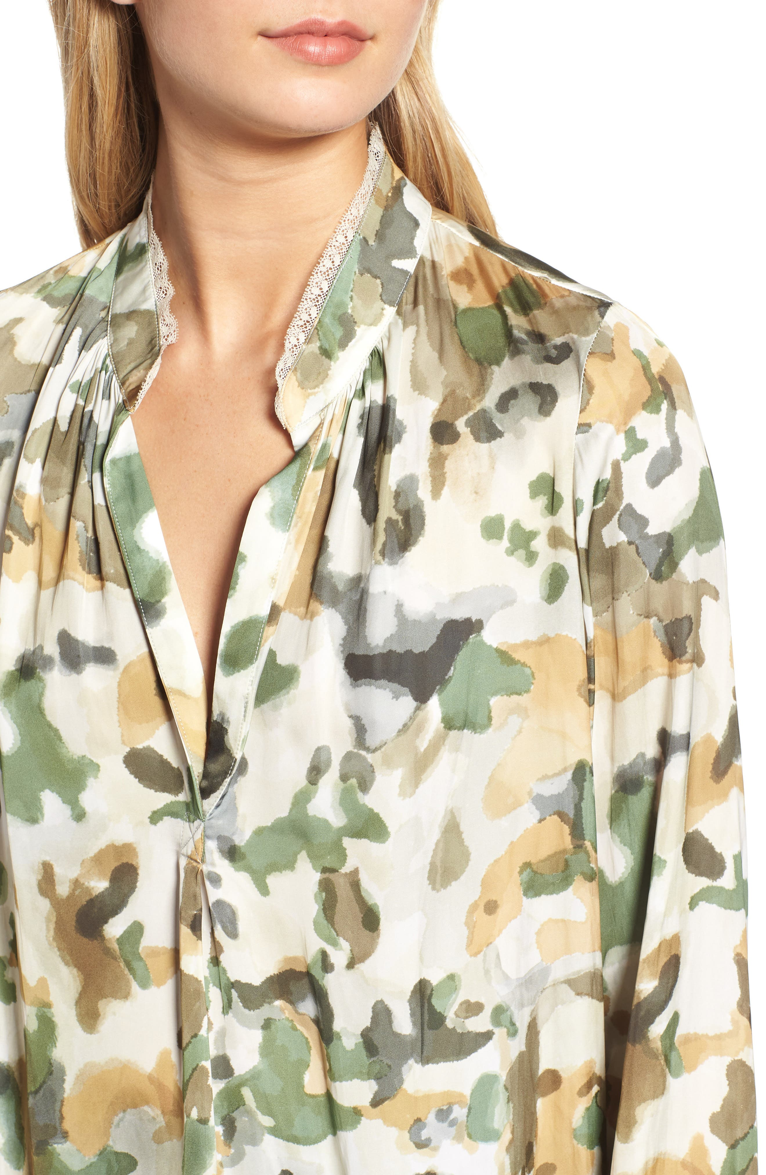 Tink Camouflage Top,                             Alternate thumbnail 4, color,                             BEIGE