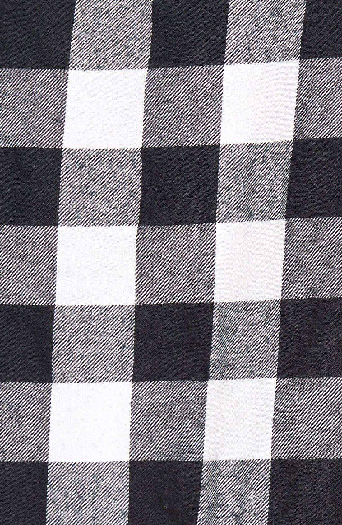 Plaid Boyfriend Shirt,                             Alternate thumbnail 2, color,                             001
