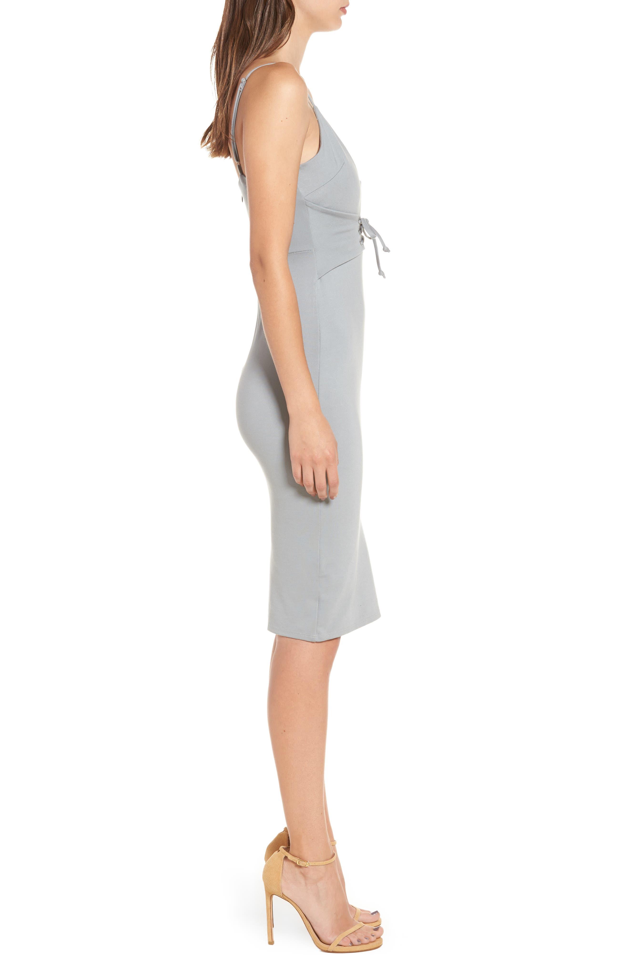 Corset Detail Body-Con Dress,                             Alternate thumbnail 6, color,