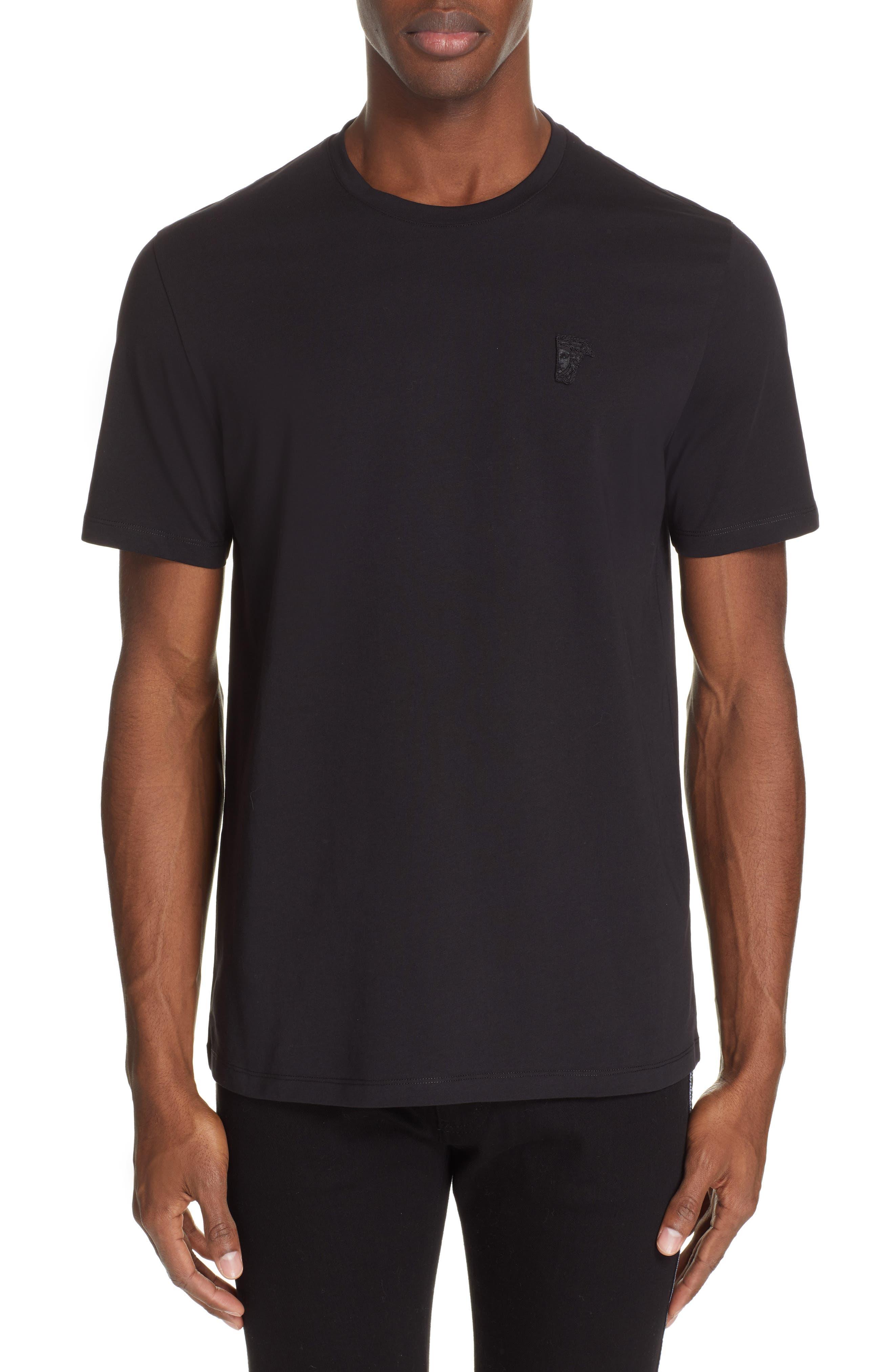 VERSACE COLLECTION Half Medusa T-Shirt, Main, color, BLACK