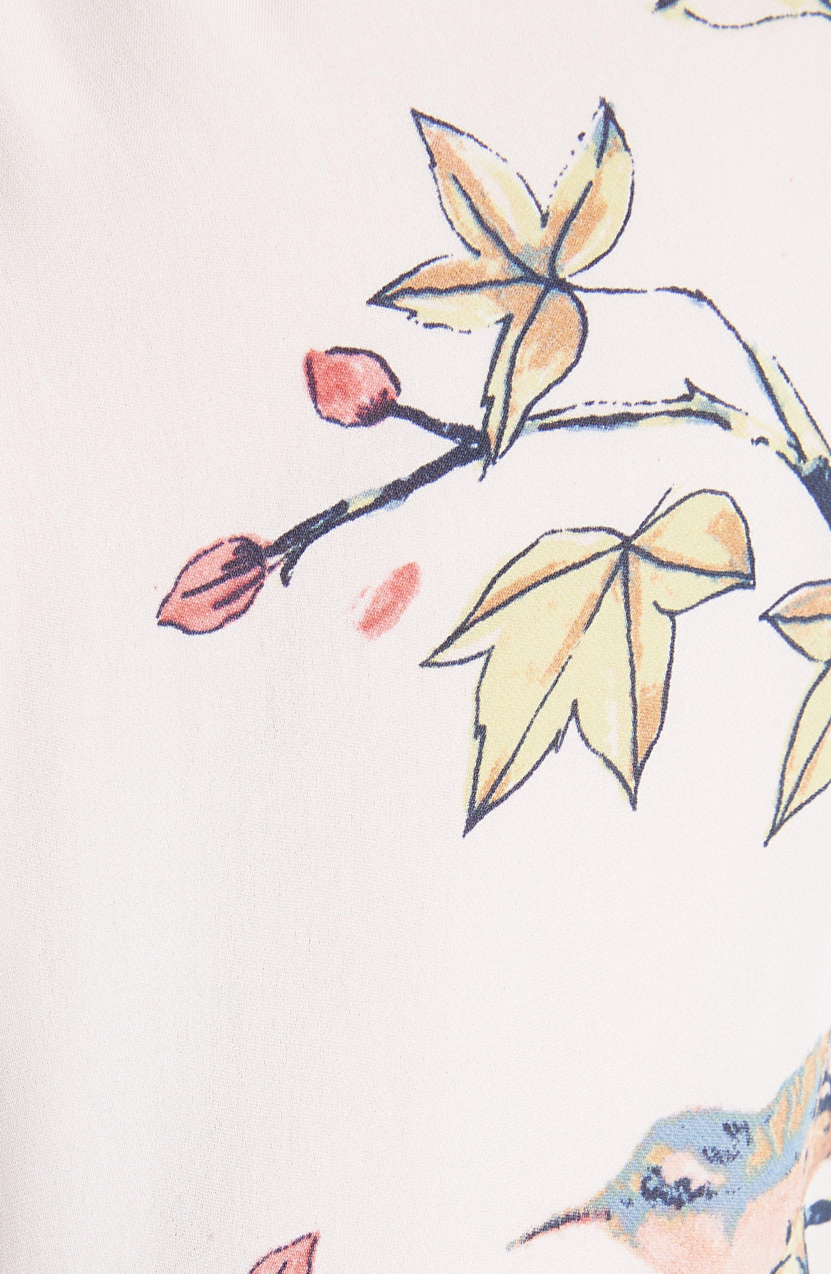 Corsen Floral Silk Blouse,                             Alternate thumbnail 10, color,