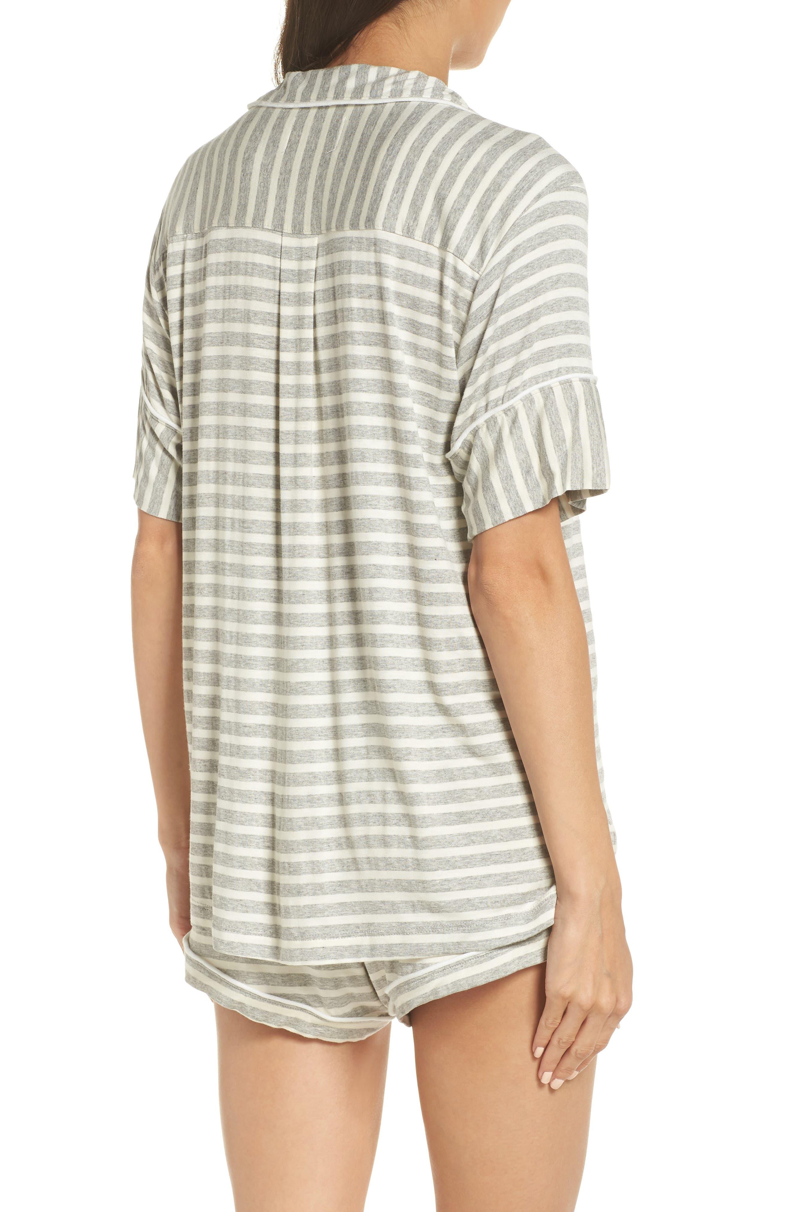 Monaco Short Pajamas,                             Alternate thumbnail 2, color,                             GREY STRIPE