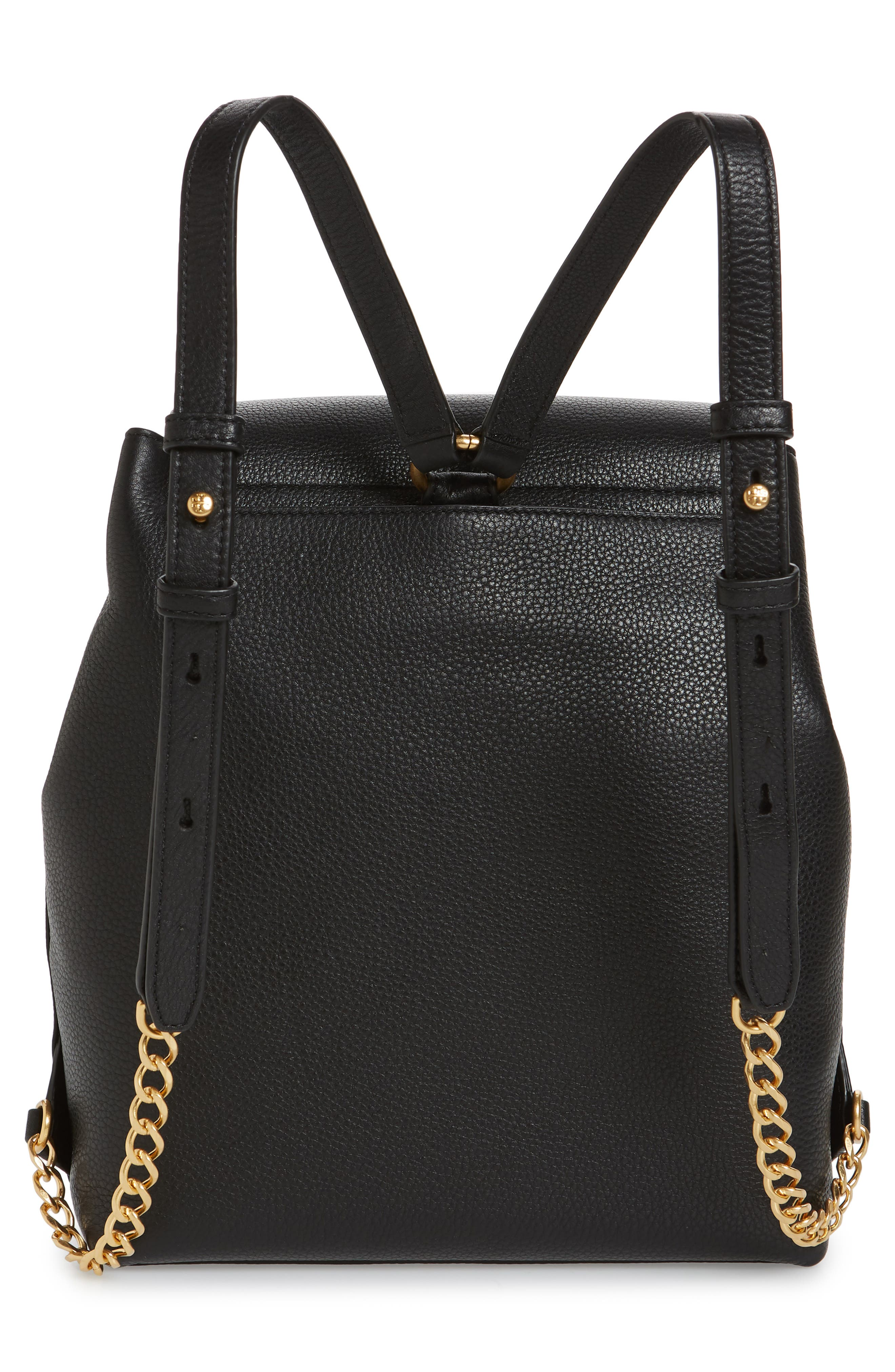 Chelsea Leather Backpack,                             Alternate thumbnail 3, color,                             001