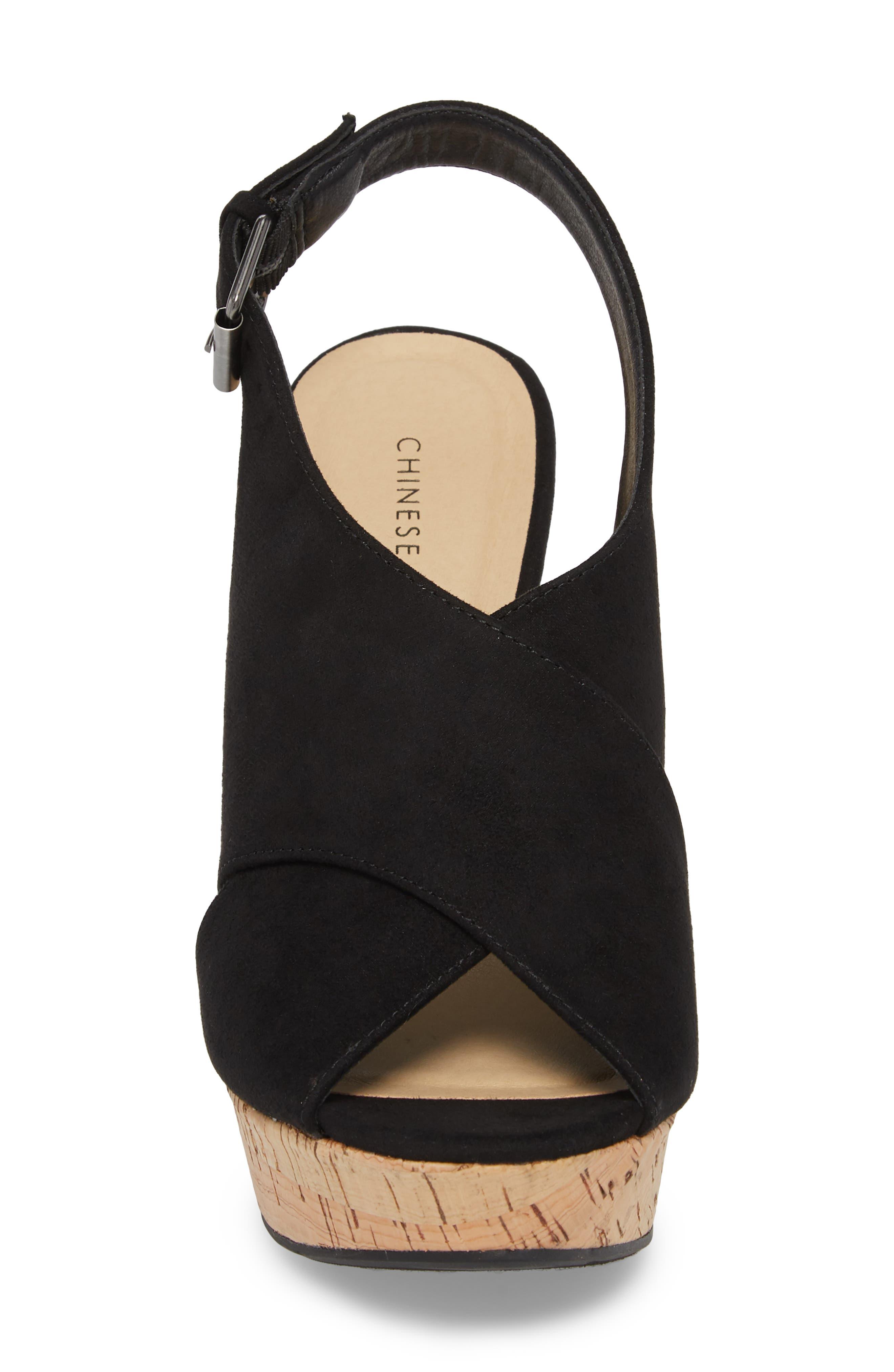 Myya Slingback Wedge Sandal,                             Alternate thumbnail 4, color,                             BLACK