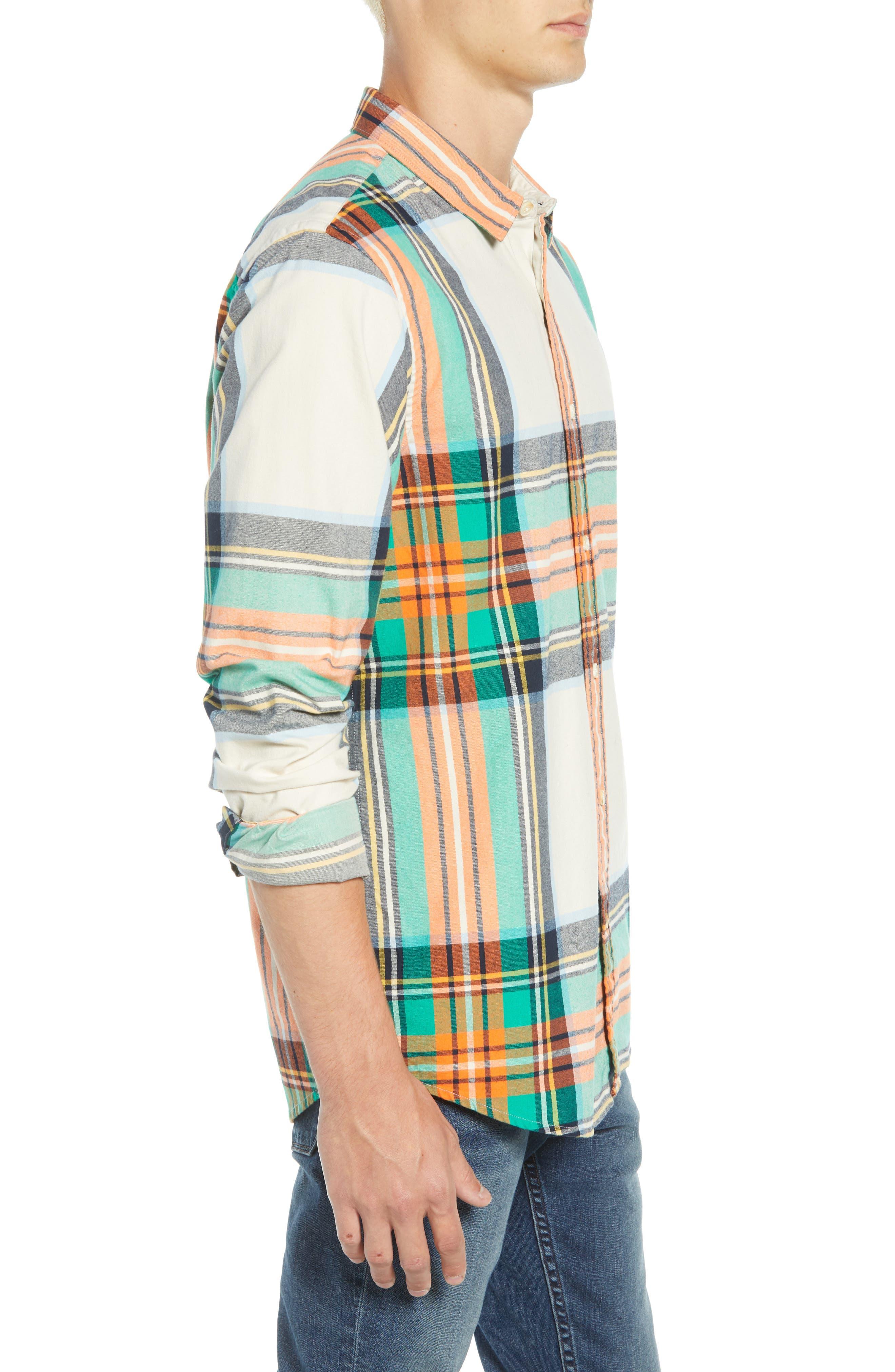 Plaid Flannel Shirt,                             Alternate thumbnail 4, color,                             COMBO D